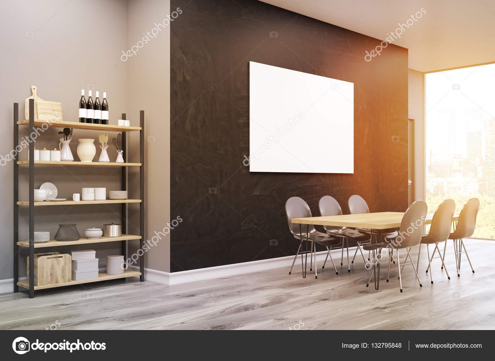 Poster di grandi dimensioni vista lato di sala da pranzo, armadio ...