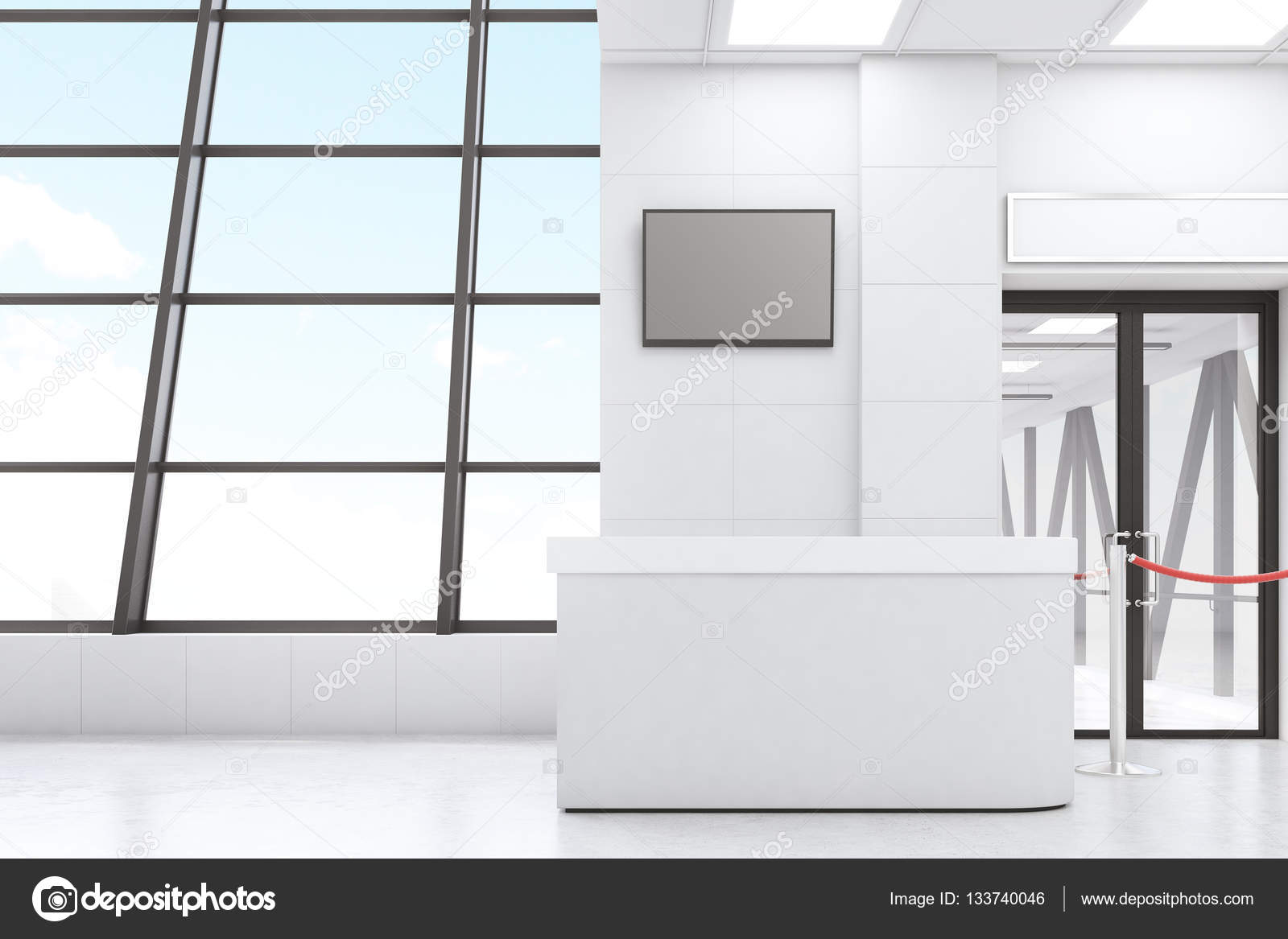 Weiße Flughafen lobby — Stockfoto © denisismagilov #133740046