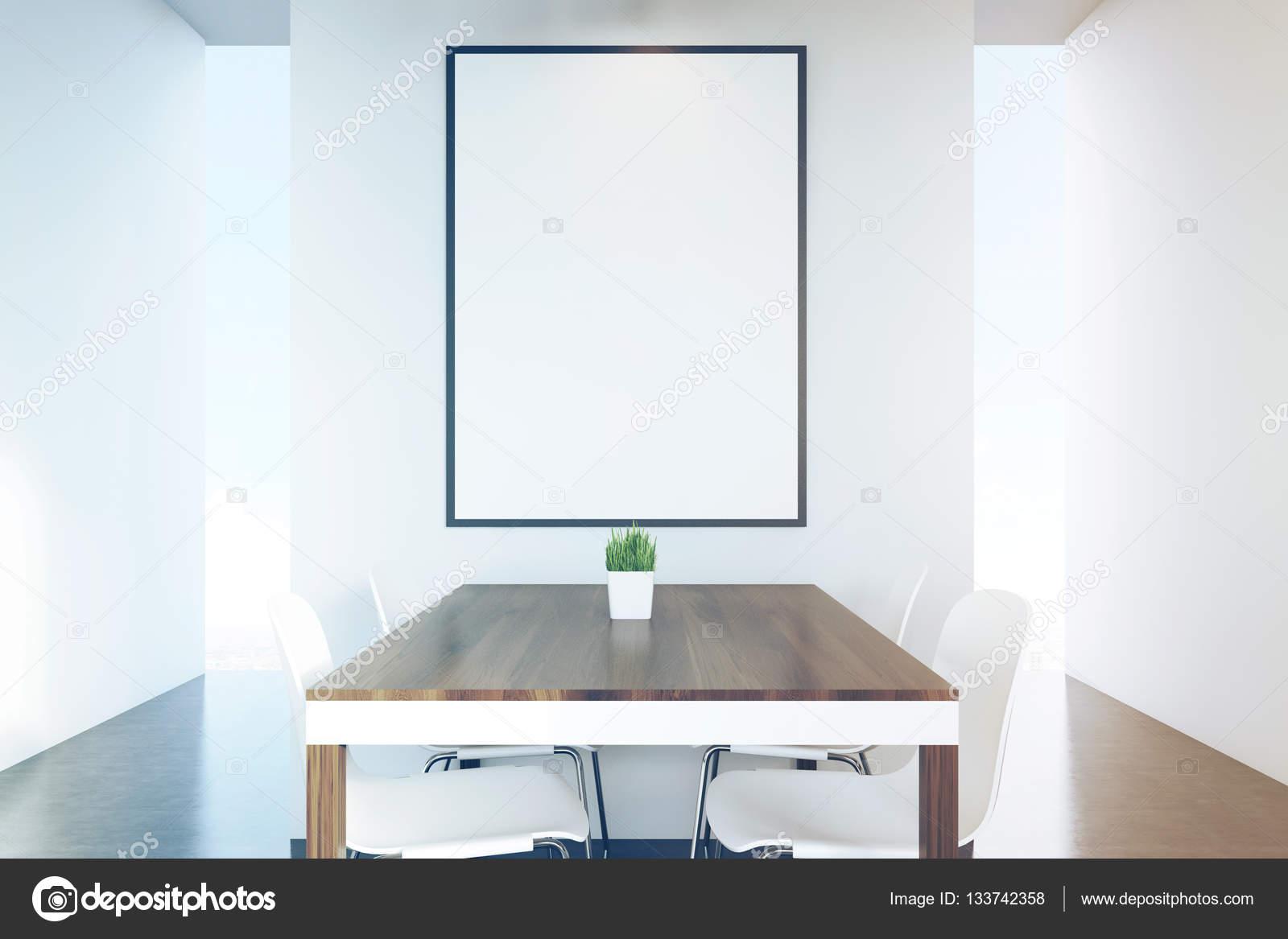 Nahaufnahme von dunklen Holz Küchentisch, Plakat, getönt — Stockfoto ...
