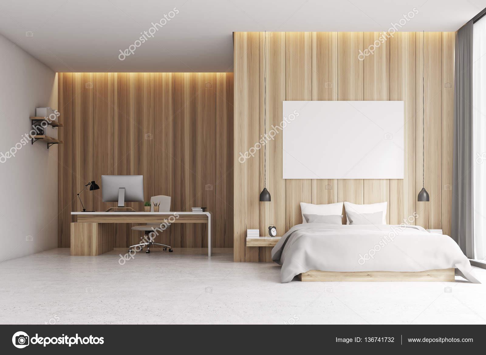 Camera da letto con zona studio, legno — Foto Stock © denisismagilov ...