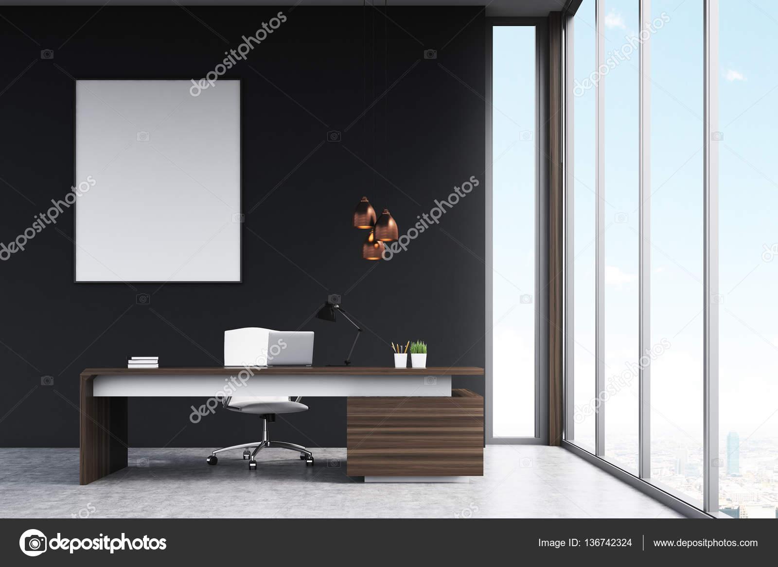 Bureau du directeur avec une affiche u photographie denisismagilov