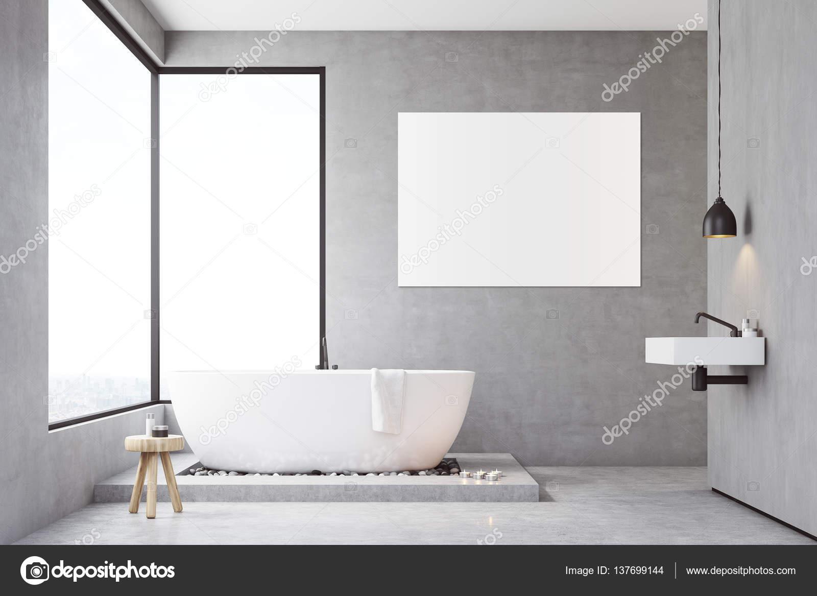 Beton Muur Badkamer : Badkamer met betonnen muren u2014 stockfoto © denisismagilov #137699144