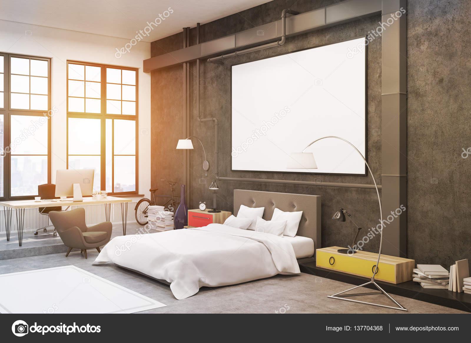 Slaapkamer: zwarte muren van — Stockfoto © denisismagilov #137704368
