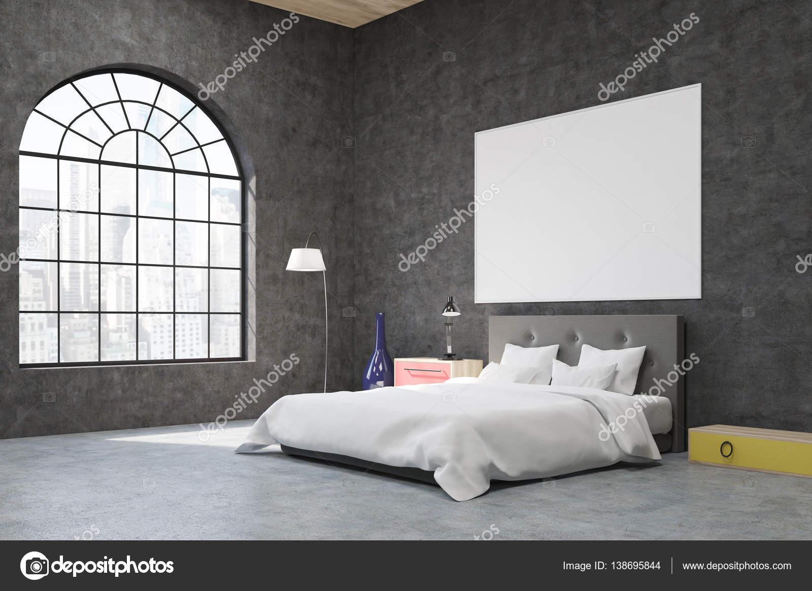 Vue lat rale d une chambre avec fen tre d arc for Fenetre rectangulaire horizontale prix