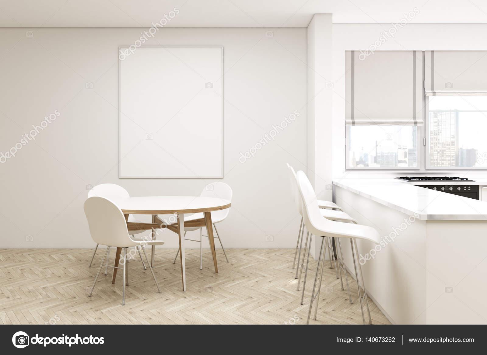Cozinha Compacta Com Mesa Redonda Stock Photo Denisismagilov