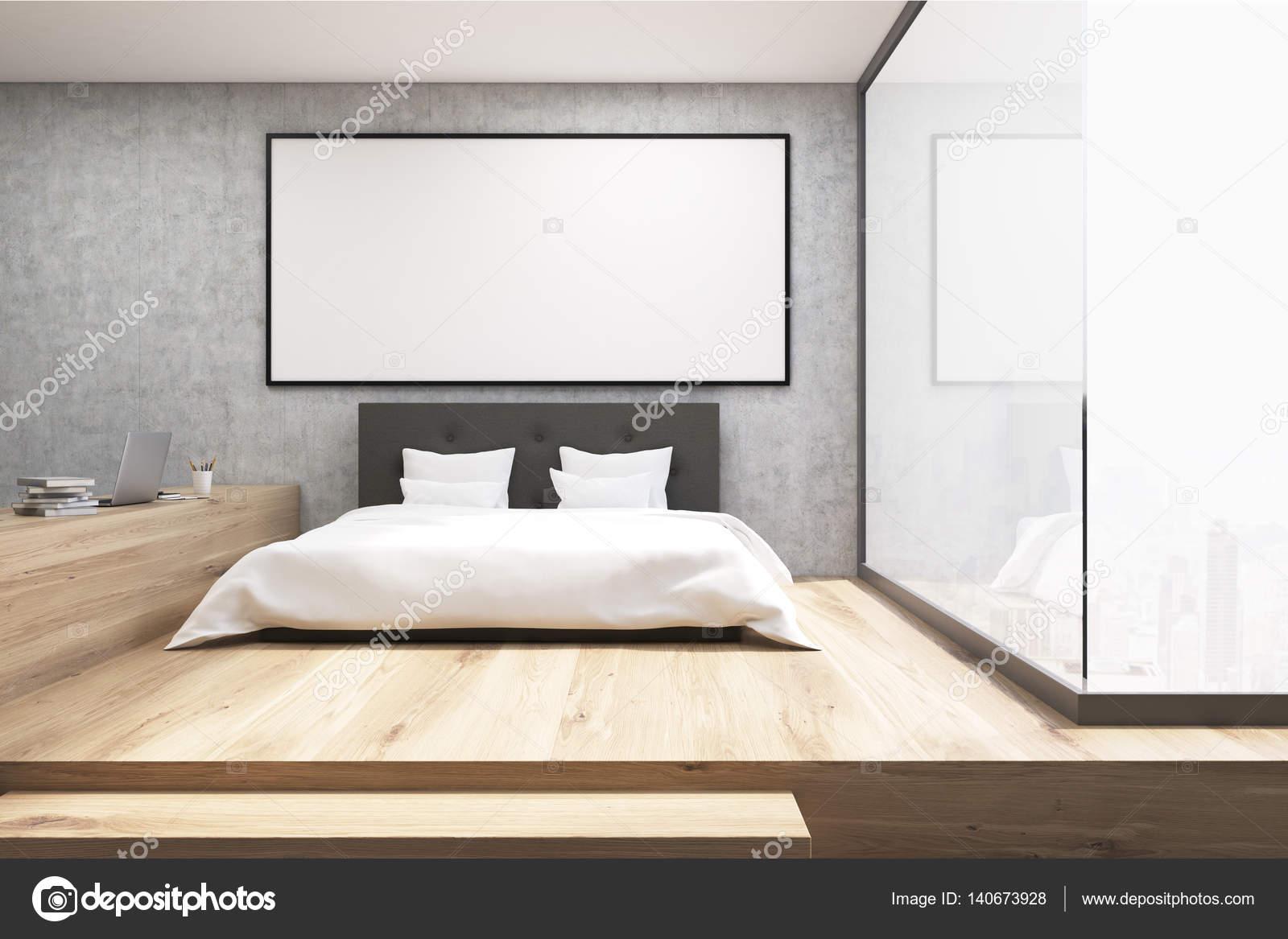 Bureau à la maison avec un plancher en bois dans une chambre à