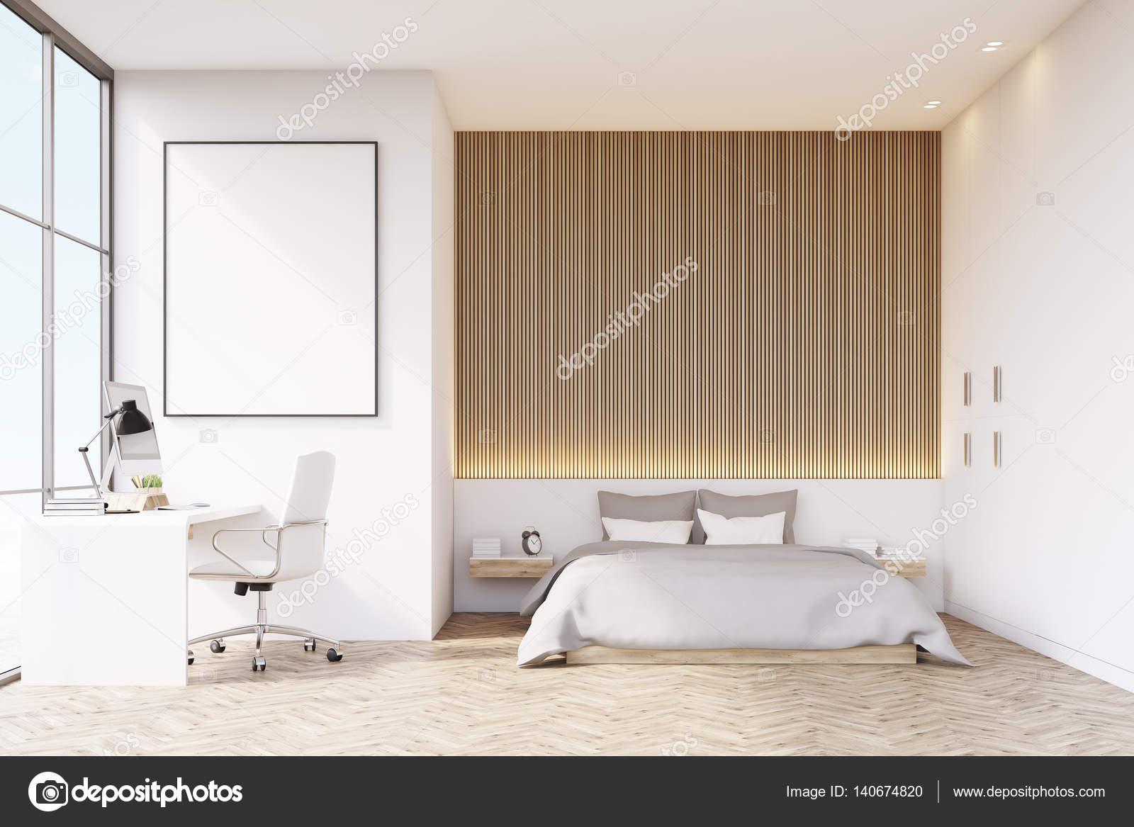 Houten Vloer Slaapkamer : Slaapkamer met houten vloer en tafel u2014 stockfoto © denisismagilov