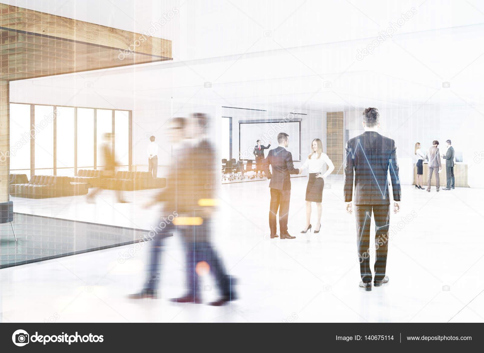 Banconi Per Ufficio Jacket : Persone in un corridoio dell ufficio con una lavagna tonica