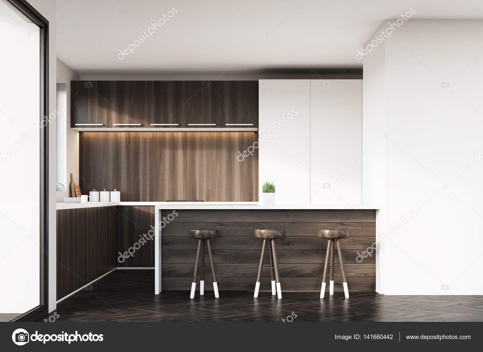 Cucina con bar e sgabelli u2014 foto stock © denisismagilov #141660442