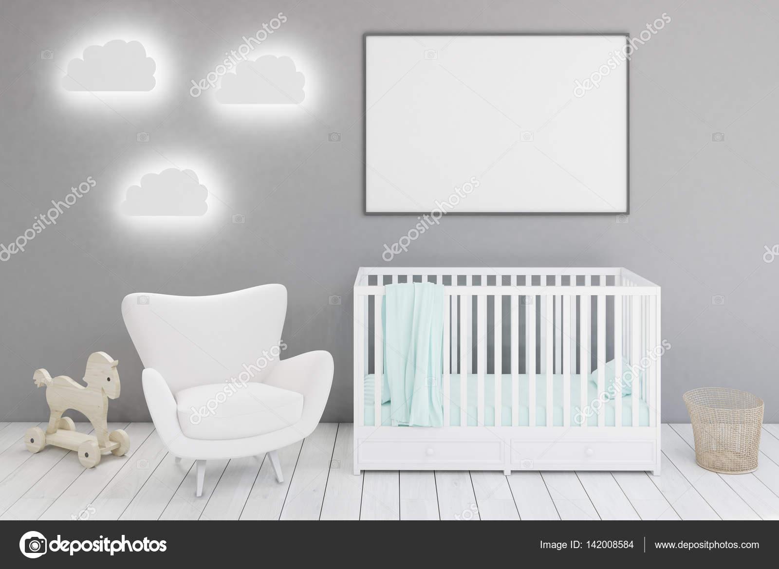 33c7fbf48d9 Παιδικό δωμάτιο με πολυθρόνα και αφίσα — Φωτογραφία Αρχείου ...