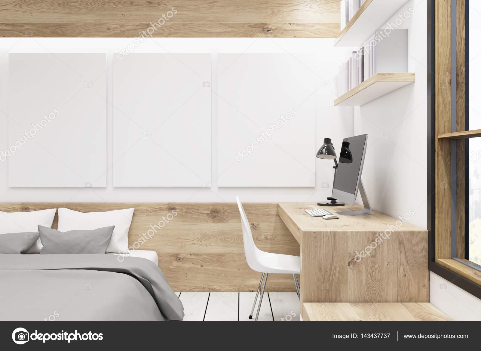 Schlafzimmer Mit Bildergalerie U2014 Stockfoto