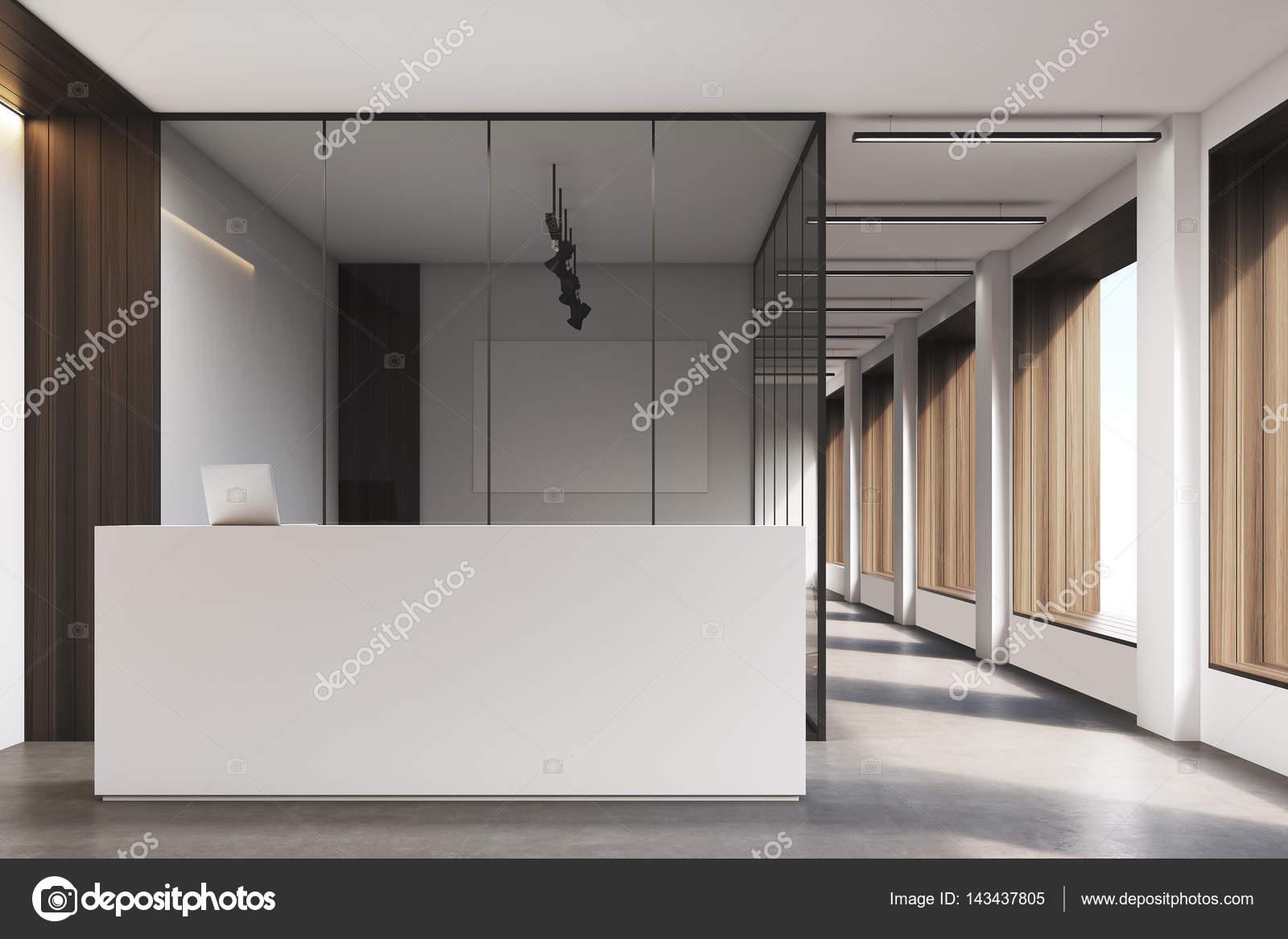 Büro-Lobby, sauber und hell, dunkel — Stockfoto © denisismagilov ...