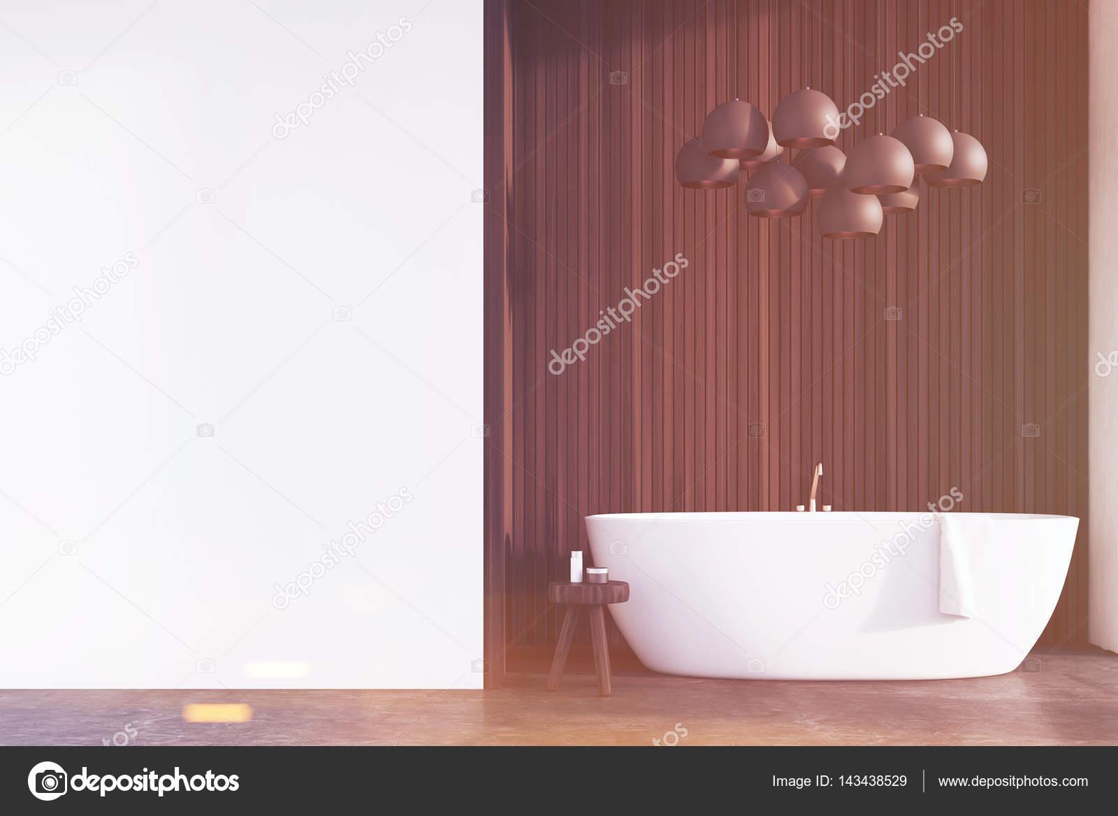 łazienka Z Lampy Ciemne Drewno ściany Stonowanych