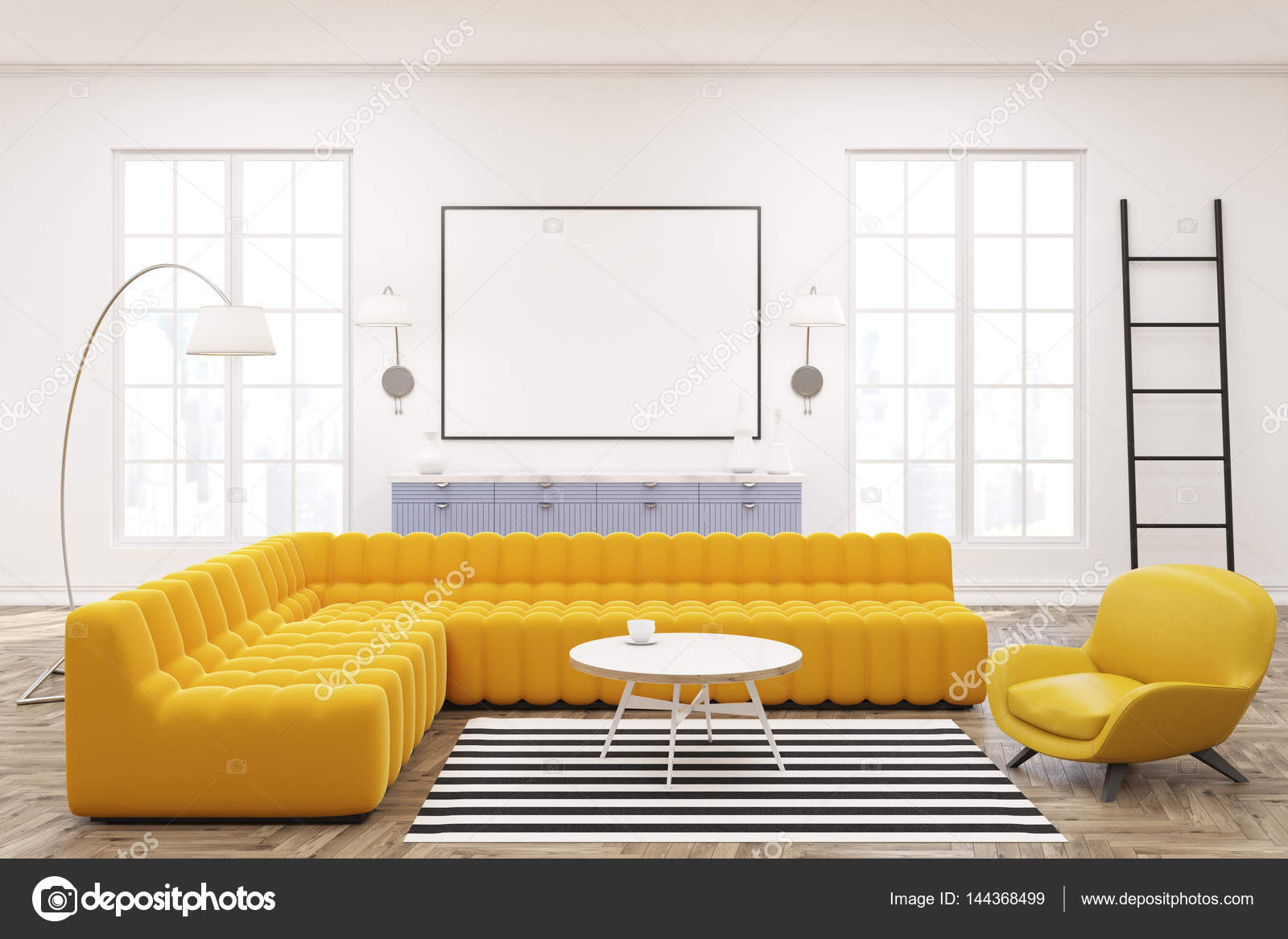 Modern interior design living room web stock vector royalty free