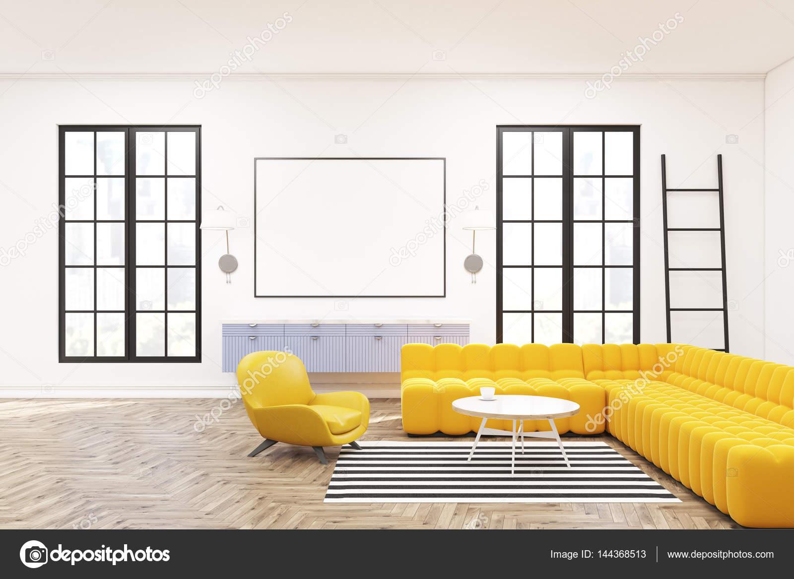 Moderne lounge interieur, poster, Fauteuils — Stockfoto ...