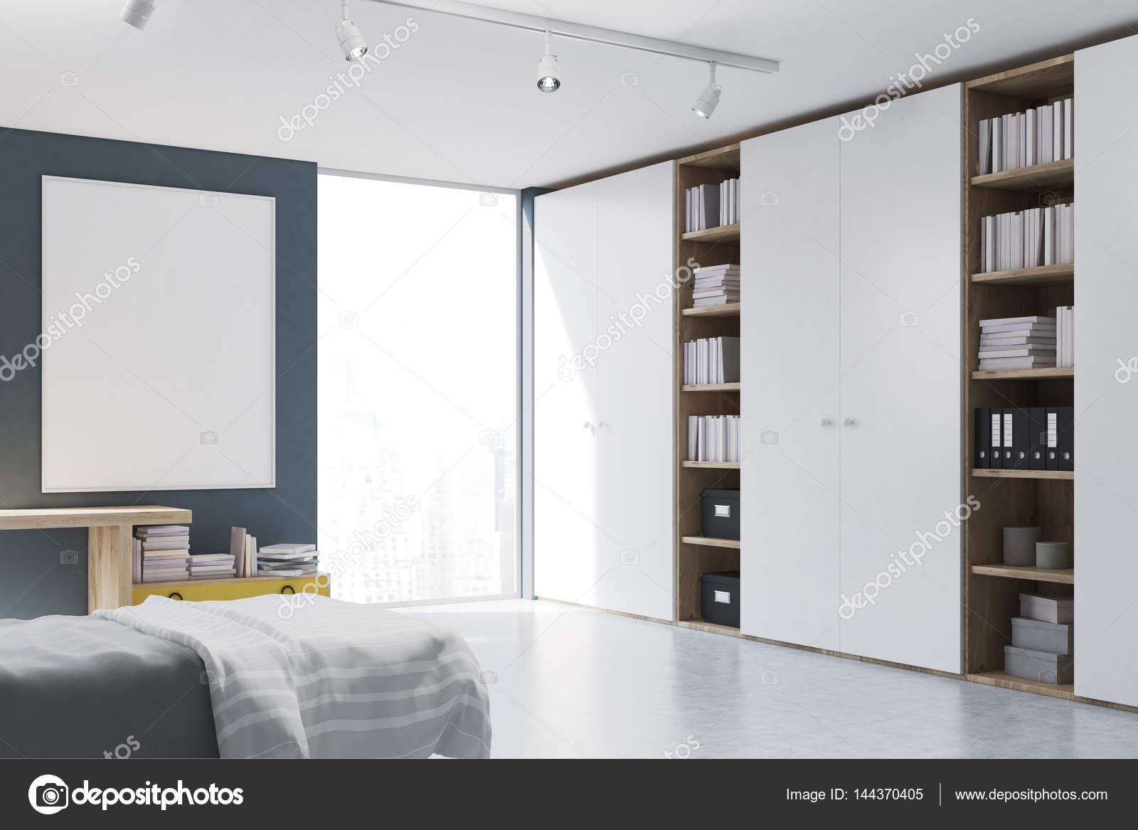 https://st3.depositphotos.com/2673929/14437/i/1600/depositphotos_144370405-stock-photo-gray-walled-bedroom-with-bookcase.jpg