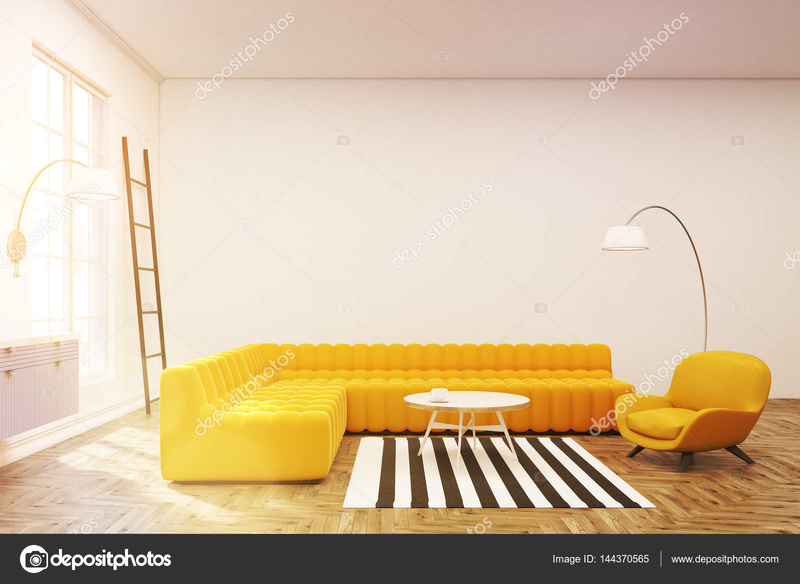 Moderne lounge interieur, zebra tapijt — Stockfoto © denisismagilov ...