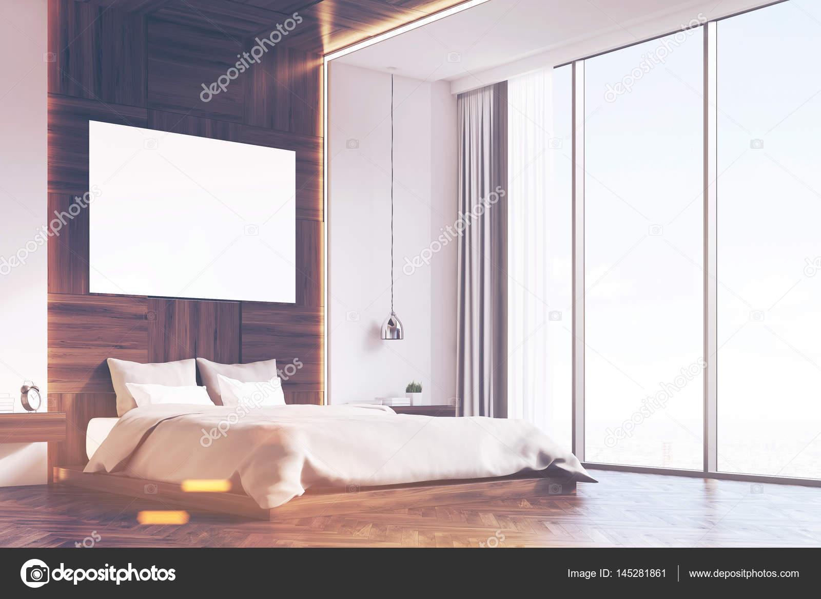 Slaapkamer Met Hout : Slaapkamer met foto hout hoek afgezwakt u2014 stockfoto