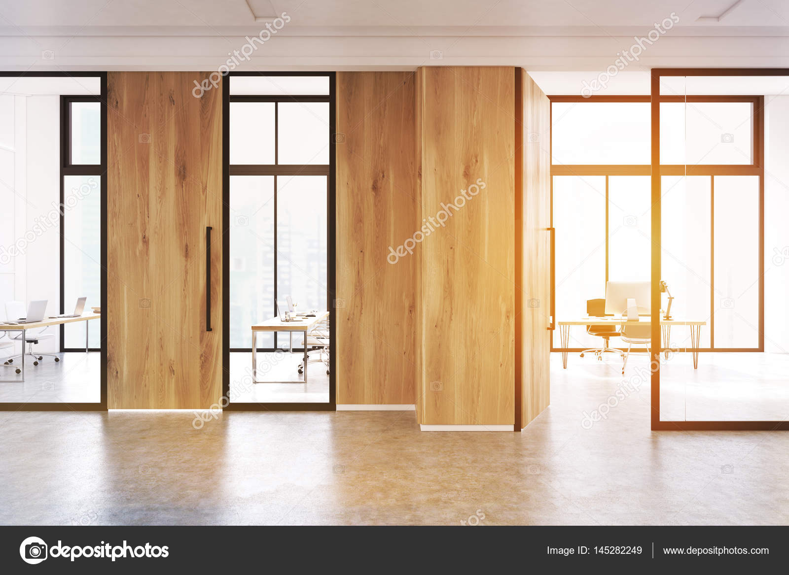 office lobby designs. Modern Office Lobby Interior With A Meeting Room Glass Walls. There Is Wooden Door And Wall Fragment. 3d Rendering, Mock Up, Toned Image \u2014 Photo By Designs E