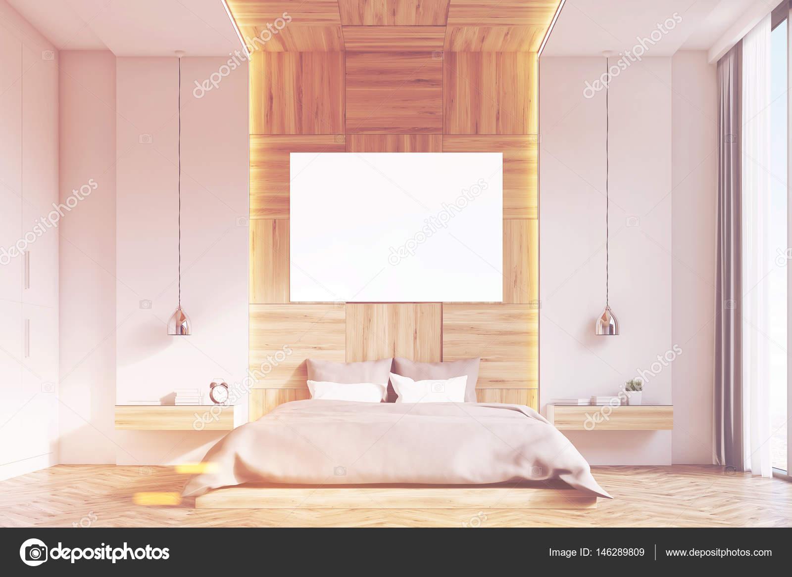 Slaapkamer Met Hout : Slaapkamer met foto licht hout voorste toned u2014 stockfoto
