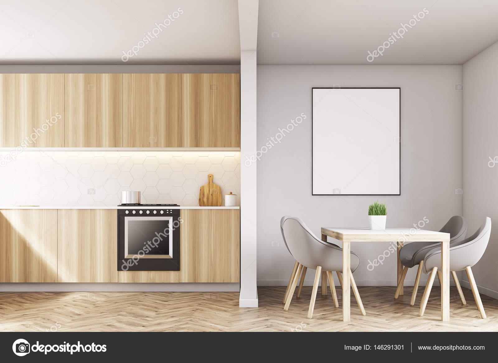 Banconi da cucina e un tavolo — Foto Stock © denisismagilov #146291301