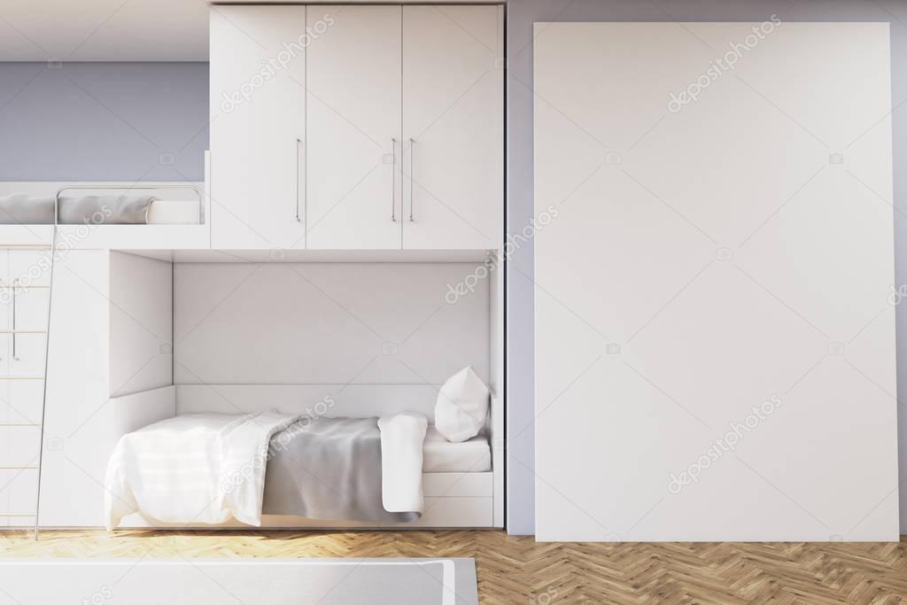 Tiener kamer met een stapelbed en een witte muur u2014 stockfoto