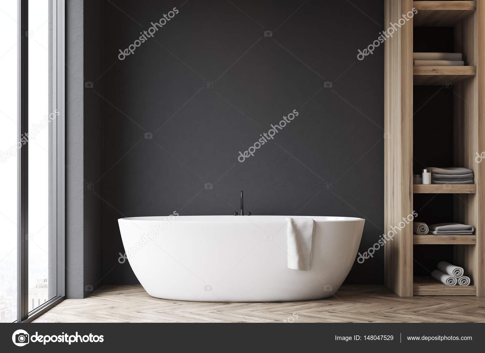 Salle De Bain Mur Noir ~ salle de bains avec placard et le mur noir photographie