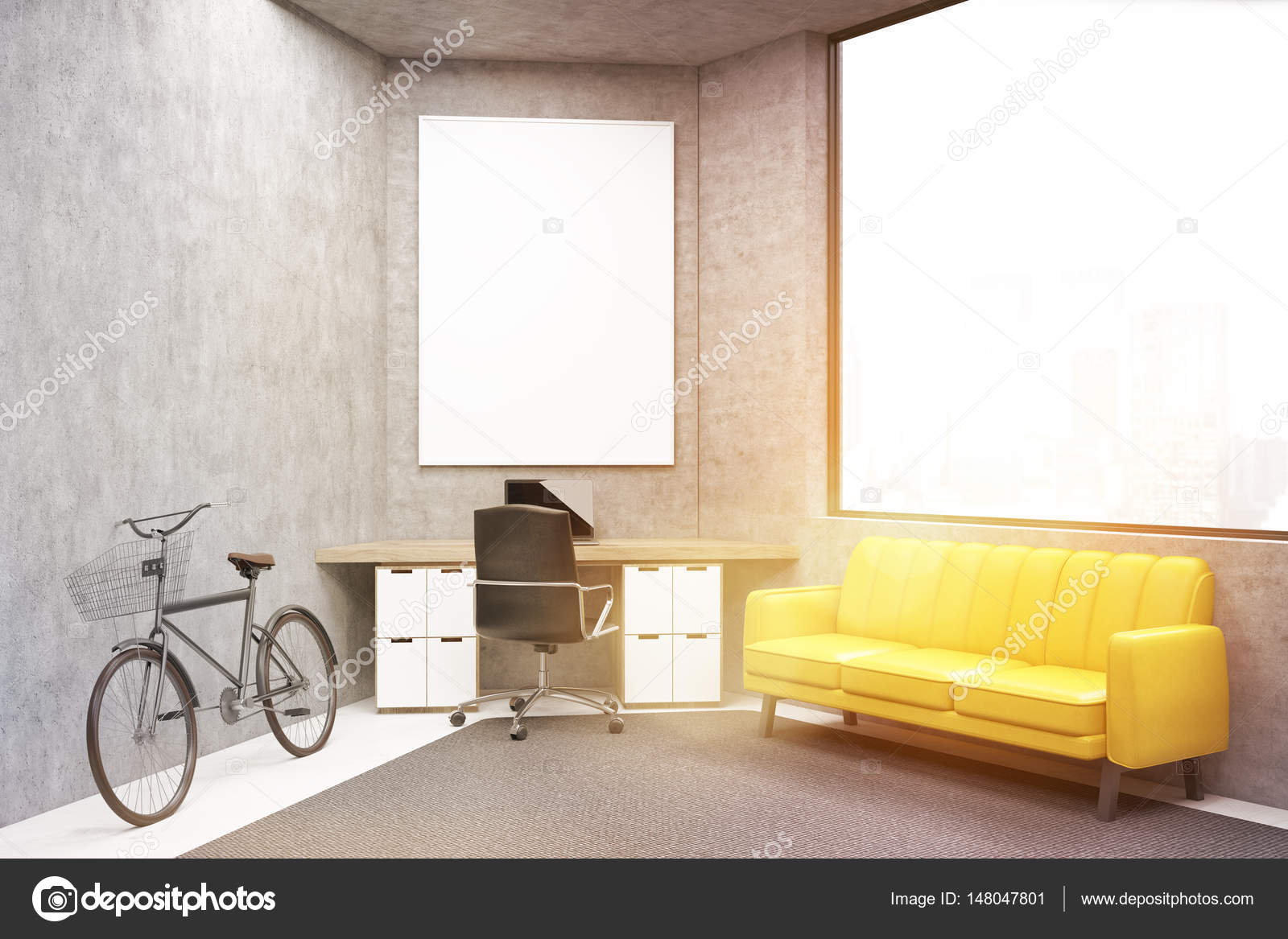 Buro Mit Einem Sofa Getont Stockfoto C Denisismagilov 148047801