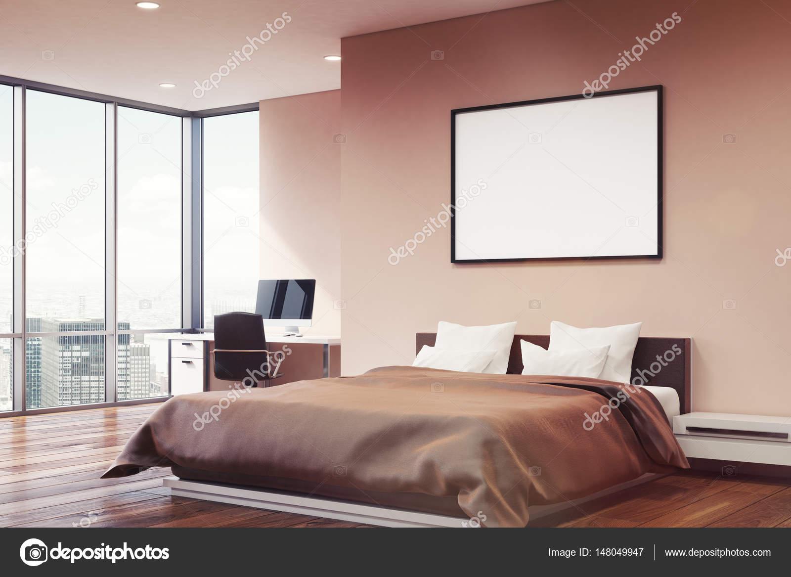 Roze muur slaapkamer, hoek — Stockfoto © denisismagilov #148049947
