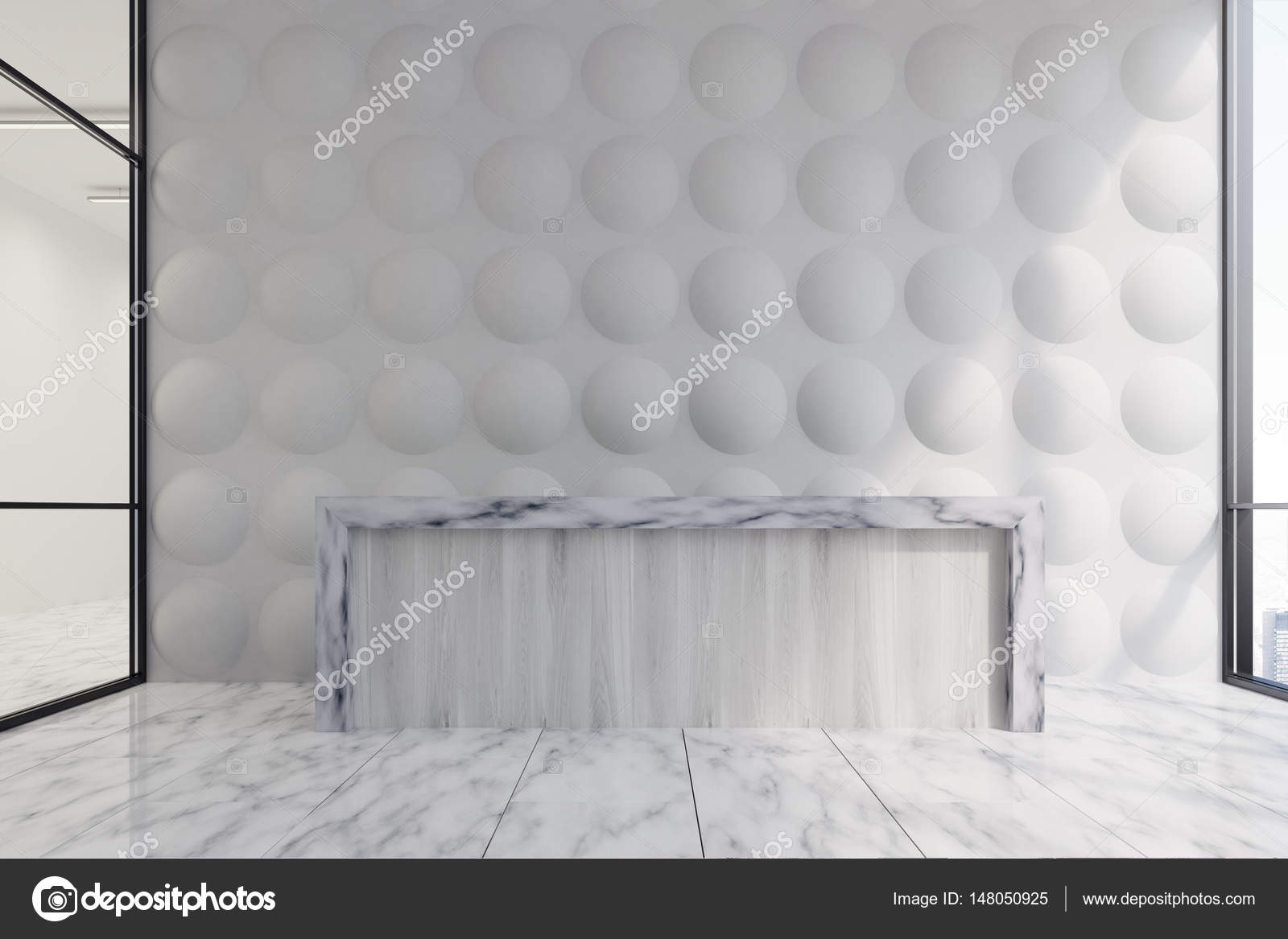 Pareti In Legno Bianco : Parete di bolla di ricezione di legno bianco bianco u foto