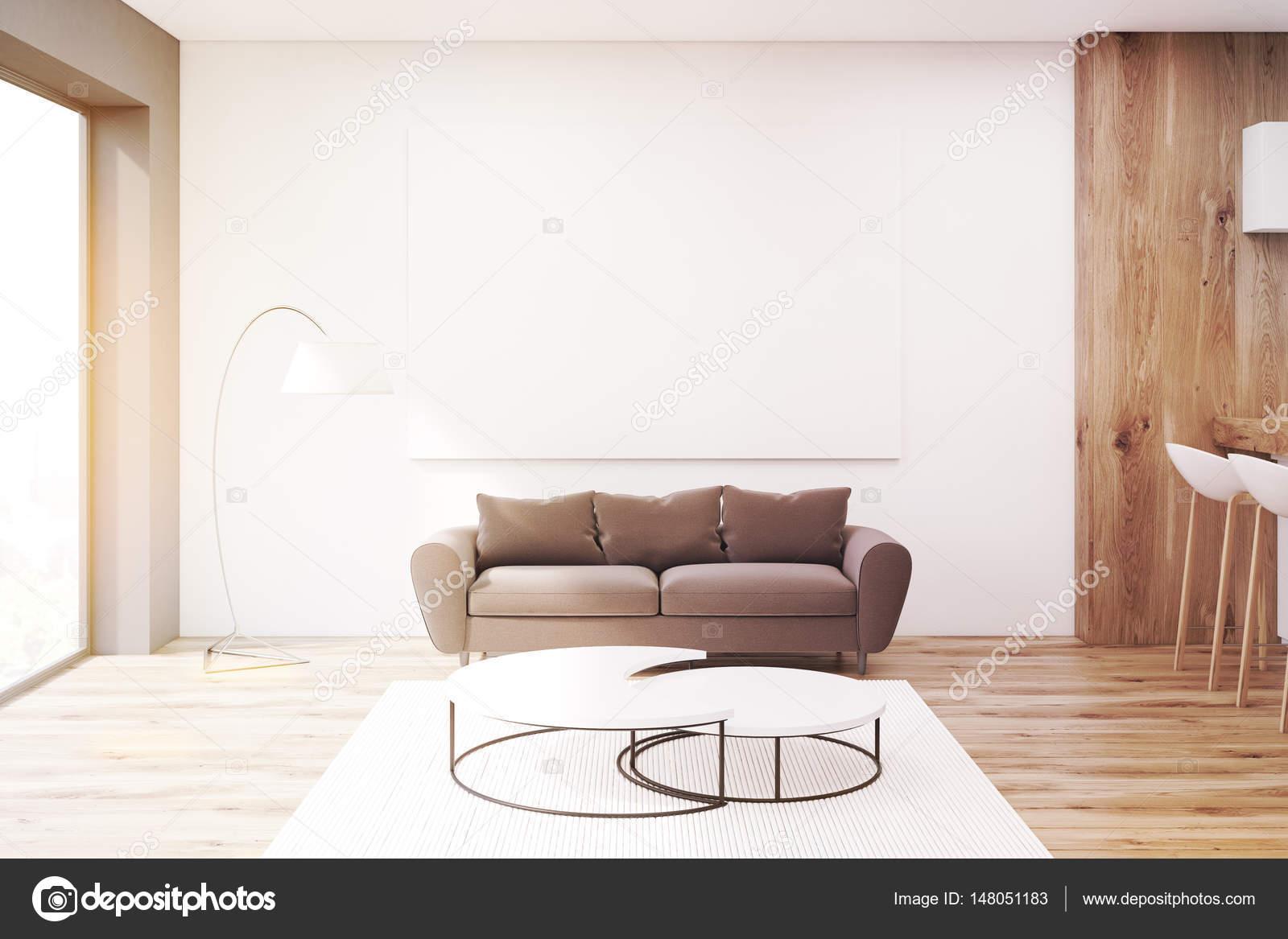 Wohnzimmer Mit Braunen Sofa Getont Stockfoto C Denisismagilov