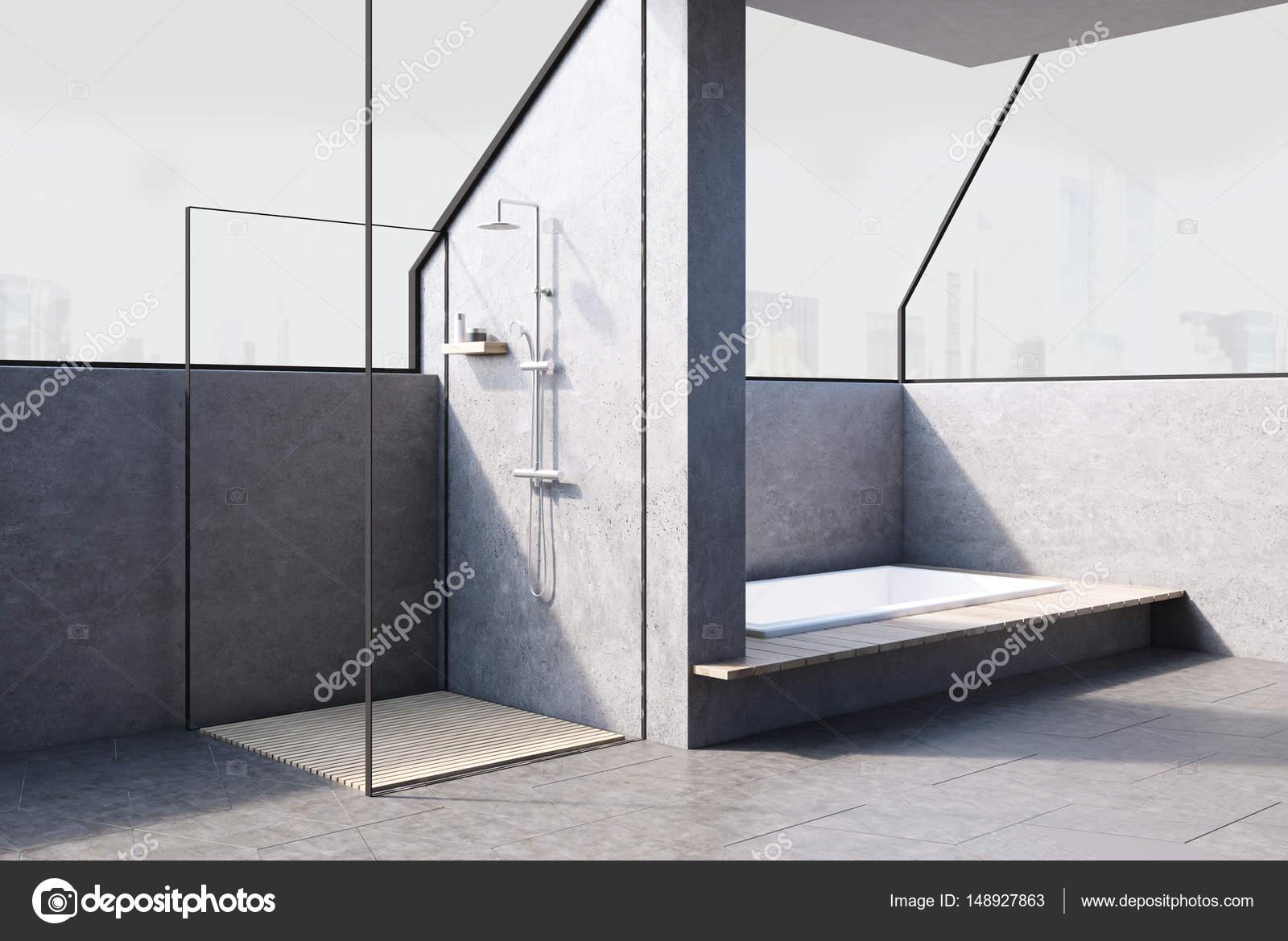Badezimmer Mit Duschkabine Stockfoto C Denisismagilov 148927863