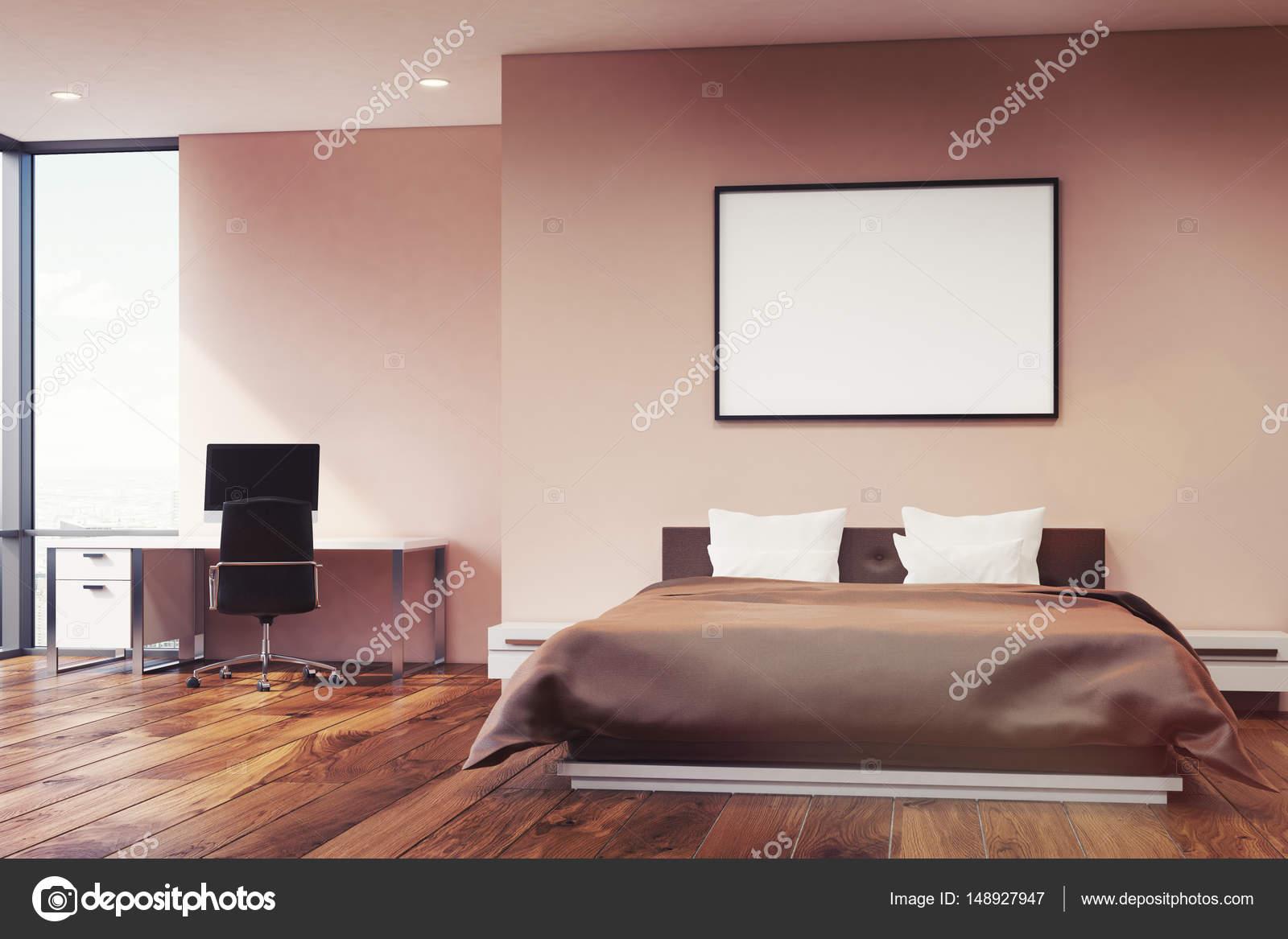 Roze muur slaapkamer, voorzijde — Stockfoto © denisismagilov #148927947