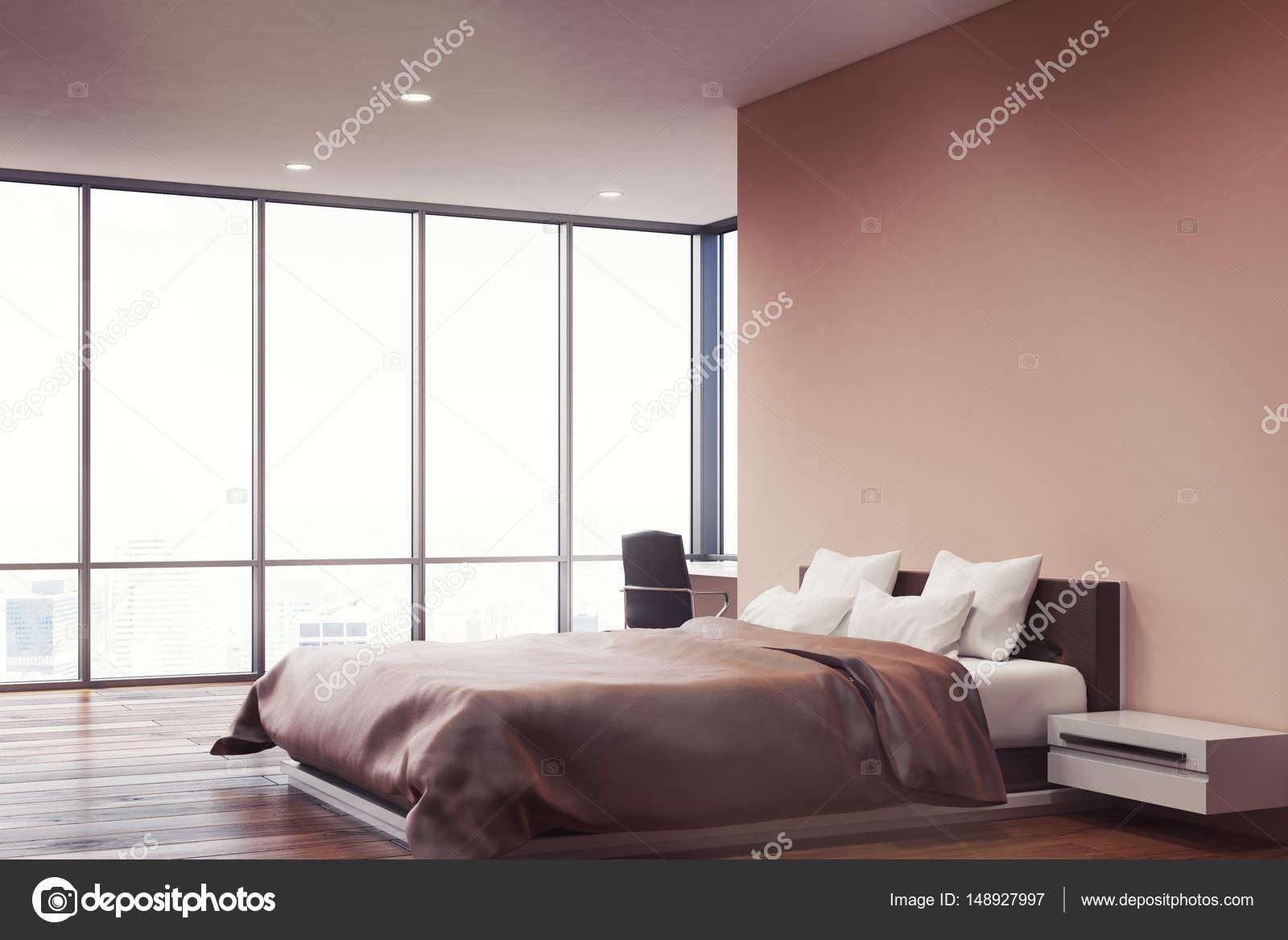 Roze muur slaapkamer, kant — Stockfoto © denisismagilov #148927997