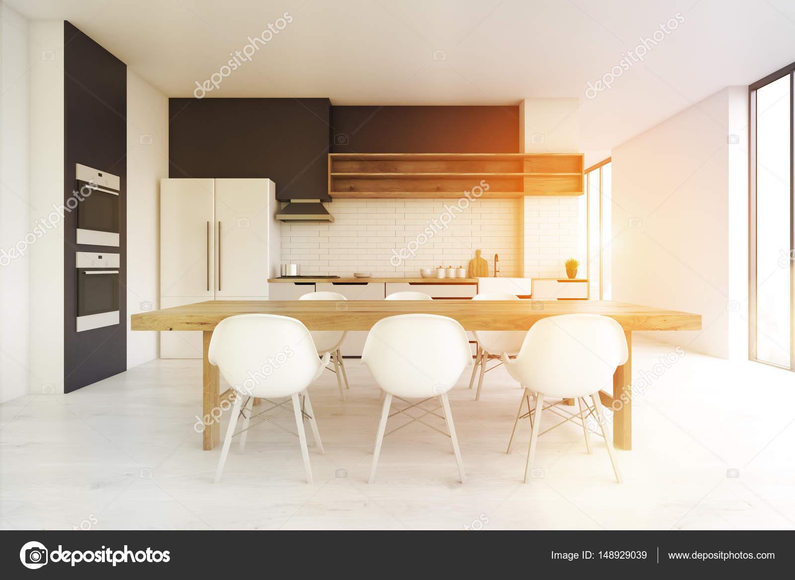 Cocina de piso de concreto, frente, tono — Foto de stock ...