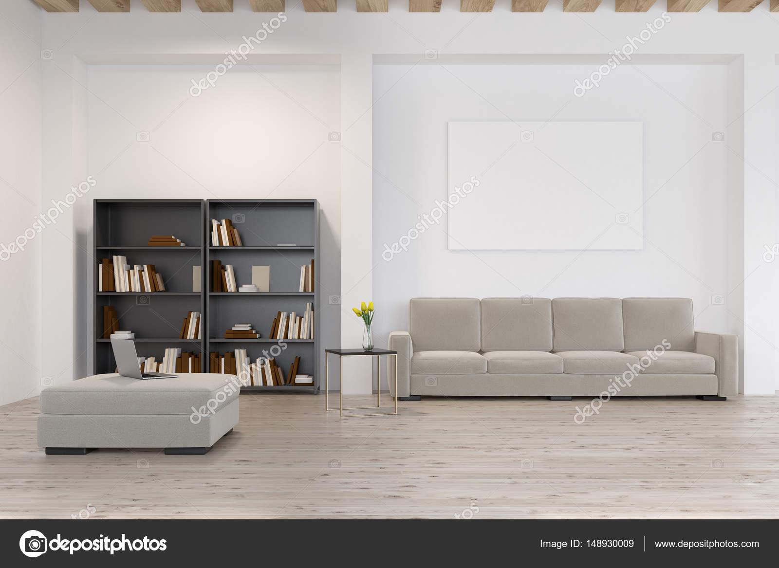 Living room with bookcase, close up — Stock Photo © denisismagilov ...