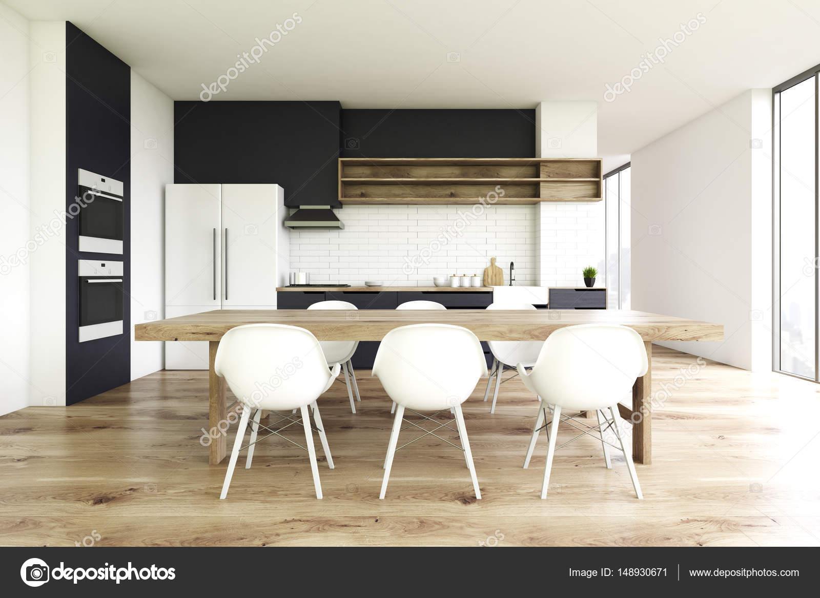Pavimento in legno cucina, anteriore — Foto Stock ...