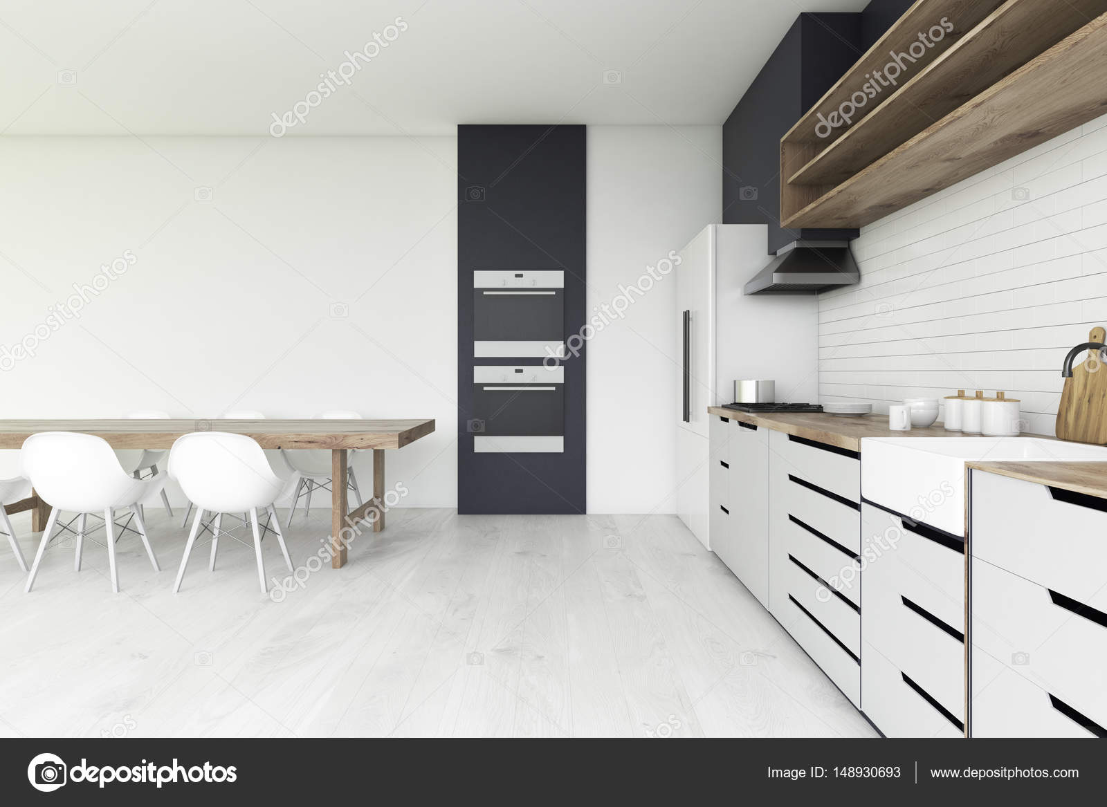 Dos horno de la cocina, piso de concreto — Foto de stock ...
