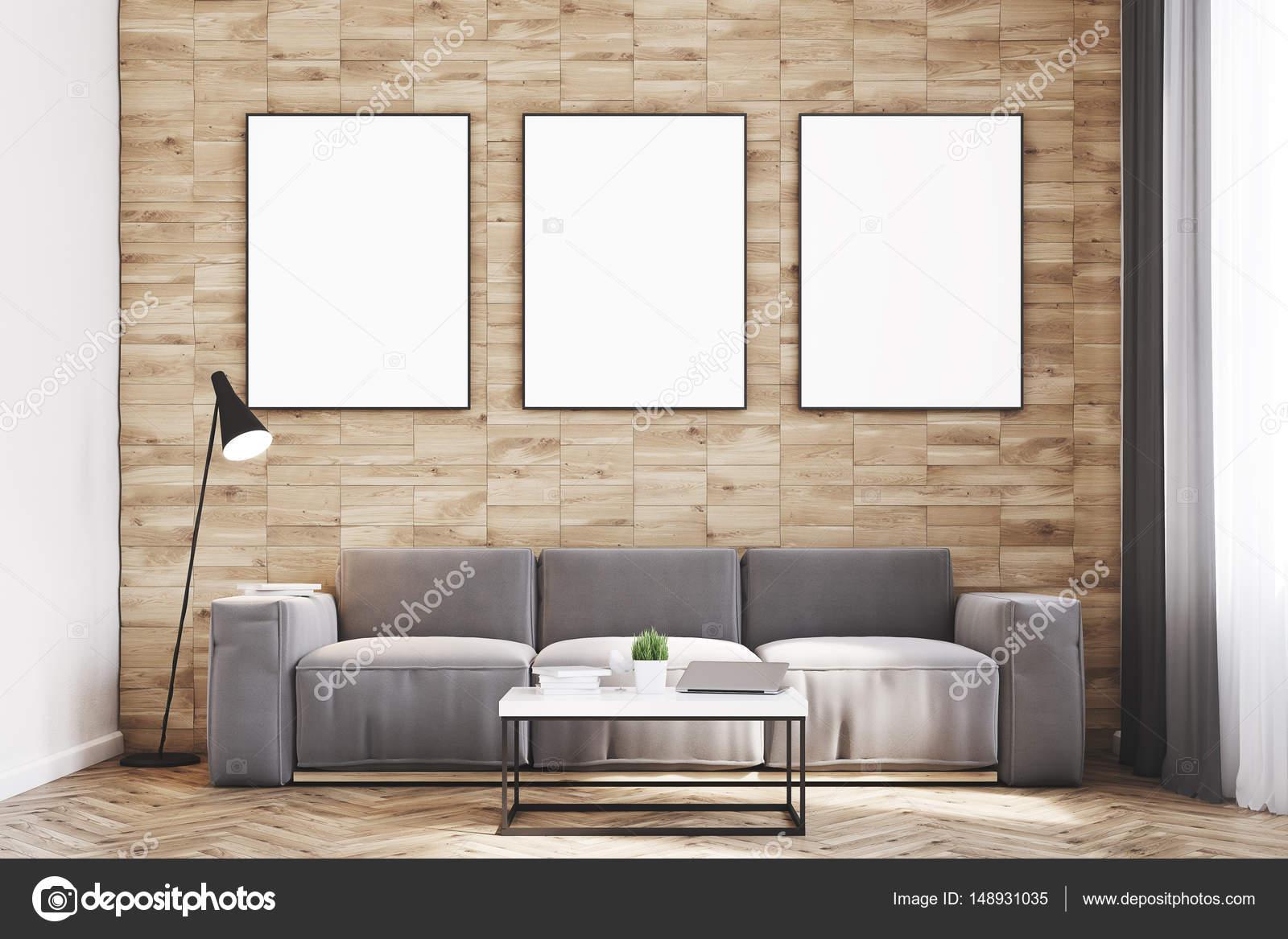 Light wood walls living room, front — Stock Photo © denisismagilov ...