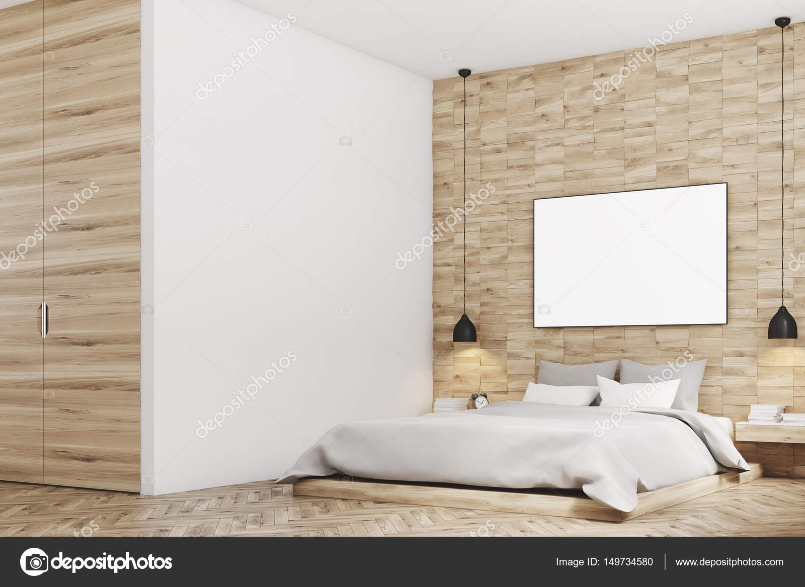 Camera Da Letto Legno Chiaro : Camera da letto in legno chiaro lato u foto stock