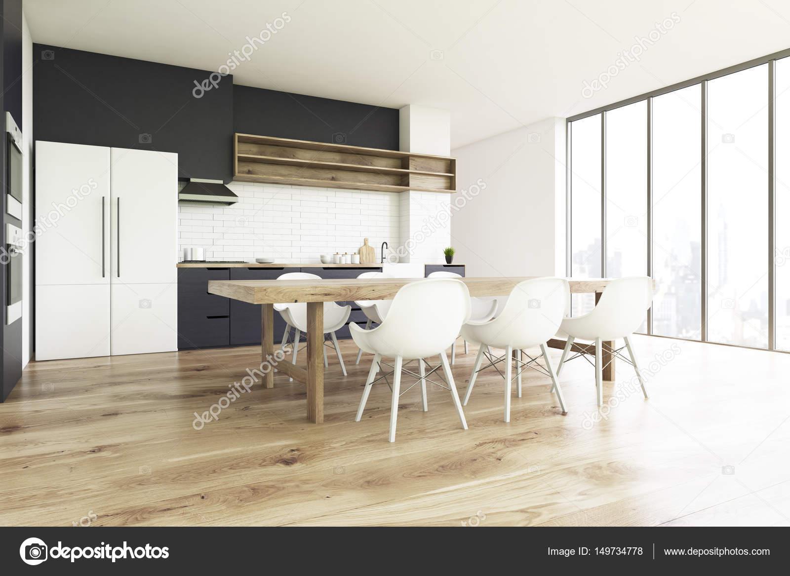 Vloer In Keuken : Houten vloer keuken kant u2014 stockfoto © denisismagilov #149734778