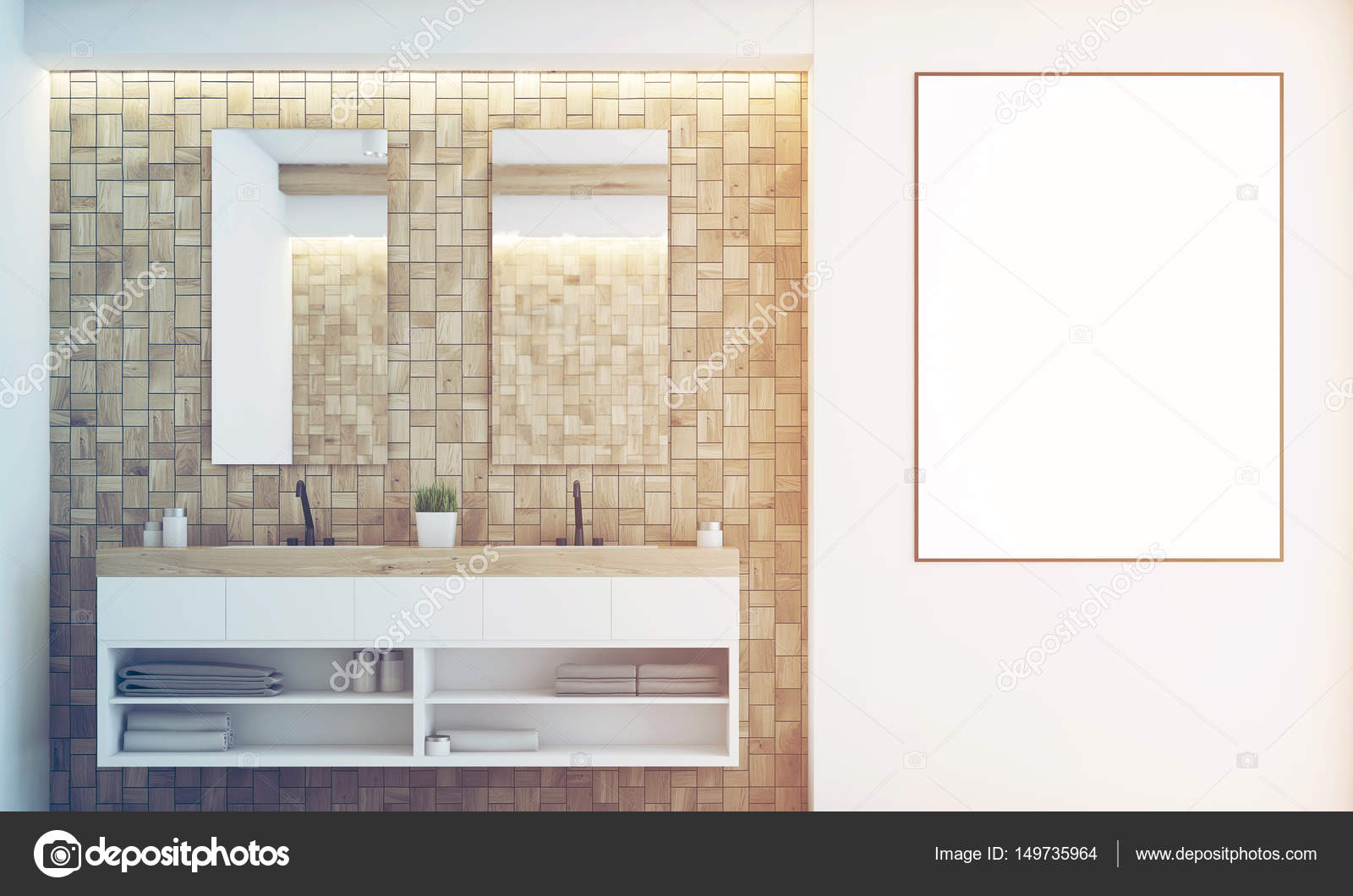 Badkamer Lichte Tegels : Lichte tegels badkamer wastafel afgezwakt u stockfoto