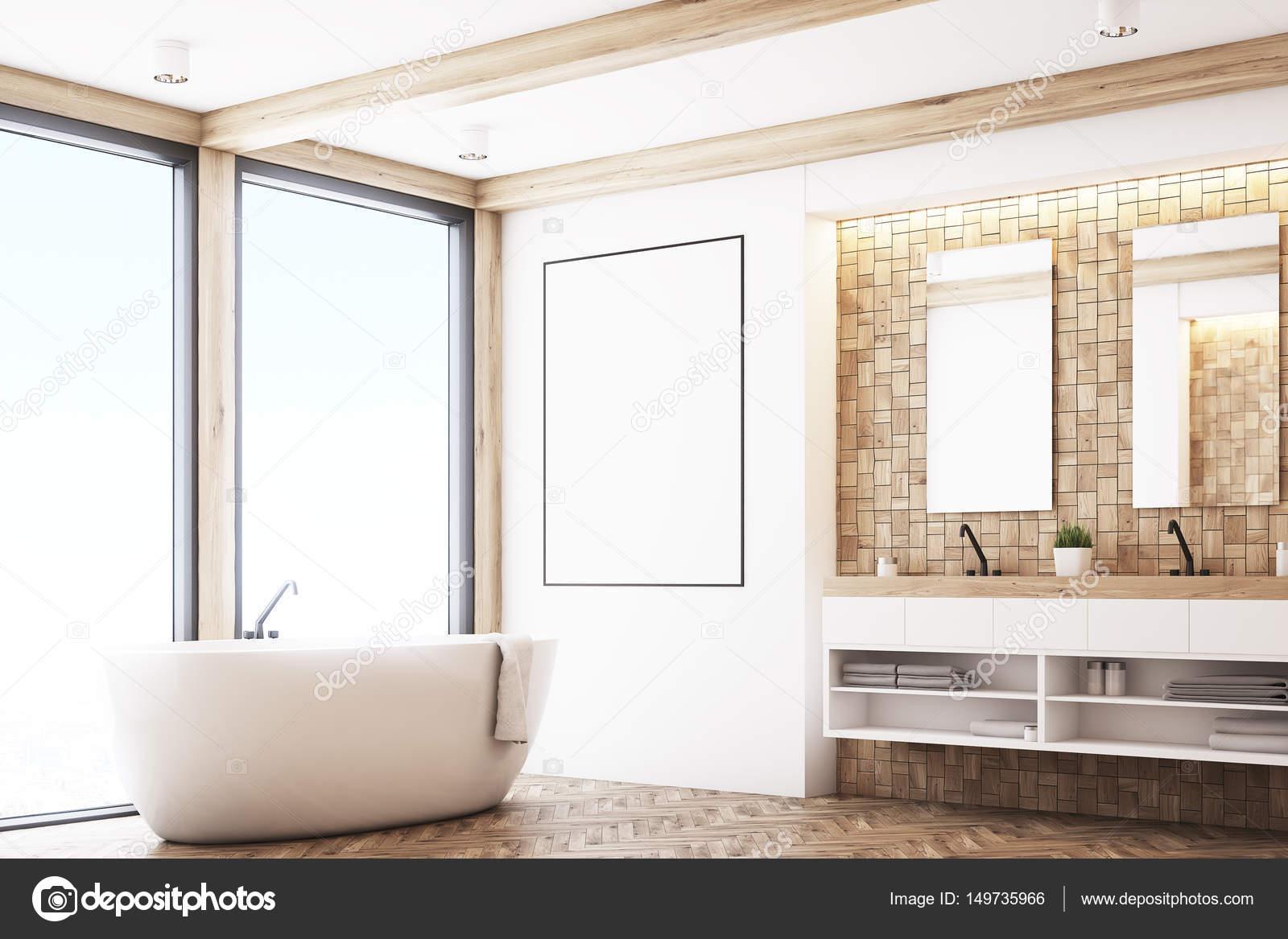 Badkamer Lichte Tegels : Lichte tegels badkamer poster hoek u2014 stockfoto © denisismagilov