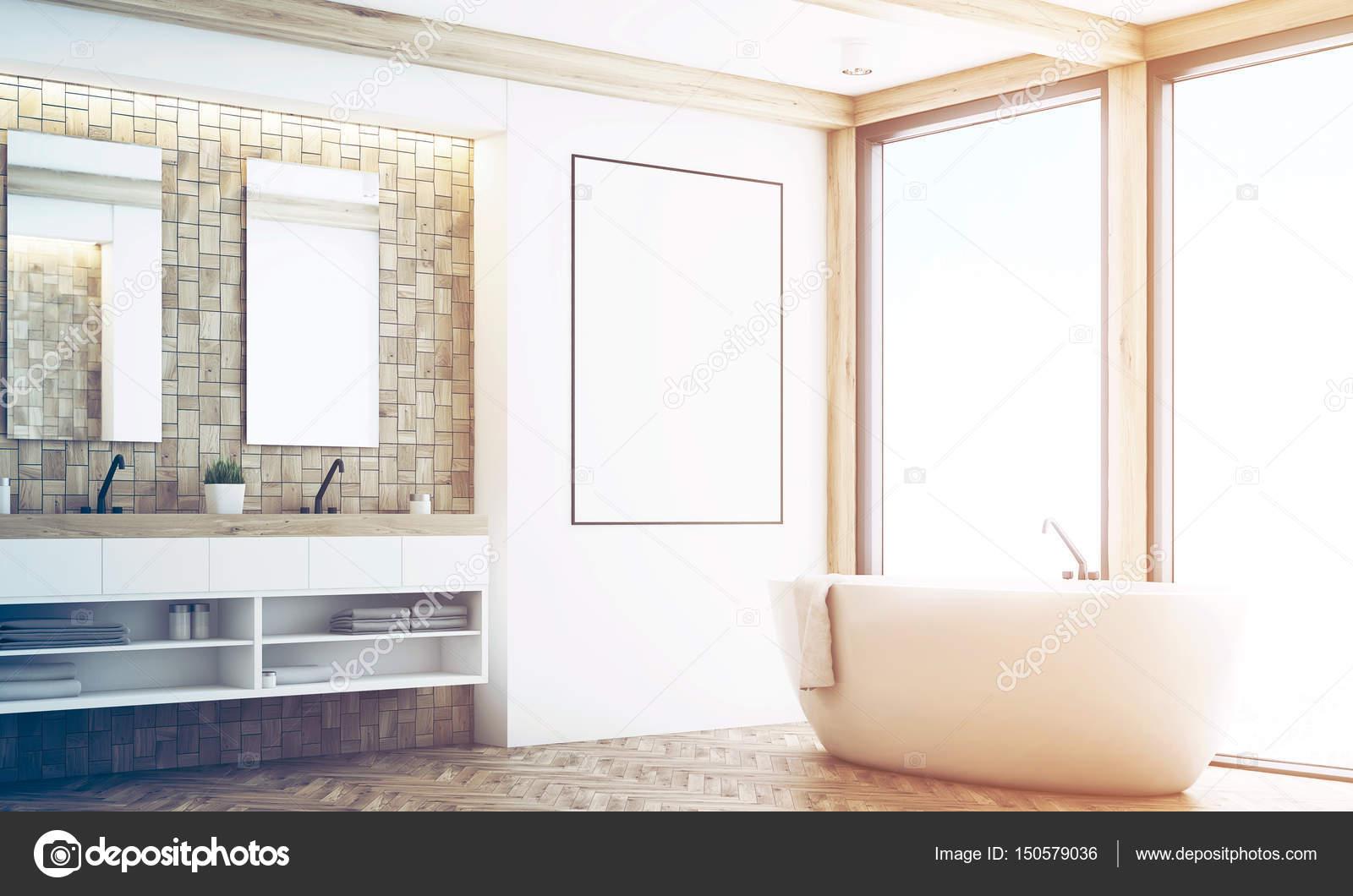 Badkamer Lichte Tegels : Lichte tegels badkamer poster hoek afgezwakt u stockfoto