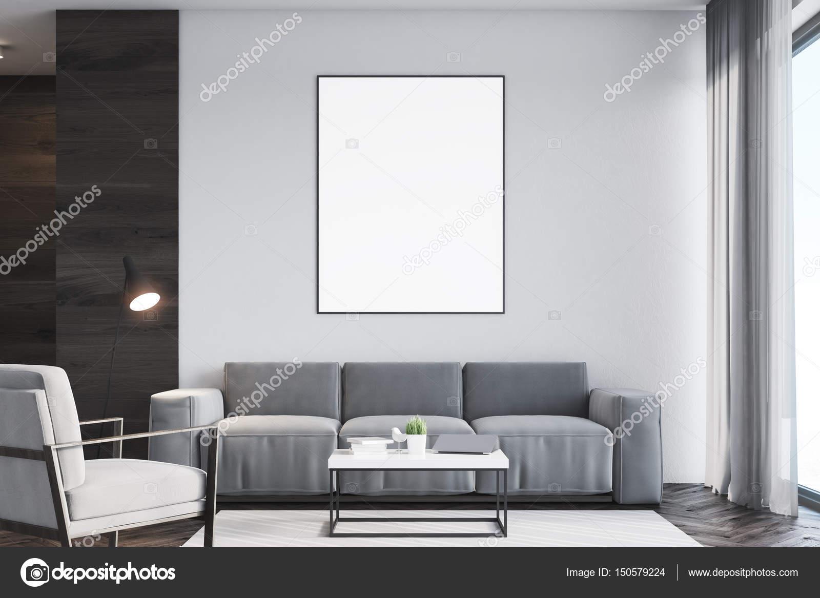 Woonkamer poster zwart voorzijde u stockfoto denisismagilov