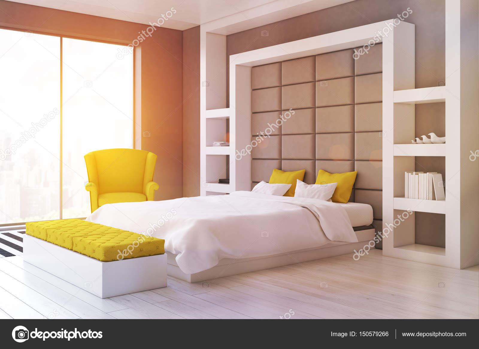Graue Wand Schlafzimmer, Seite, getönt — Stockfoto © denisismagilov ...