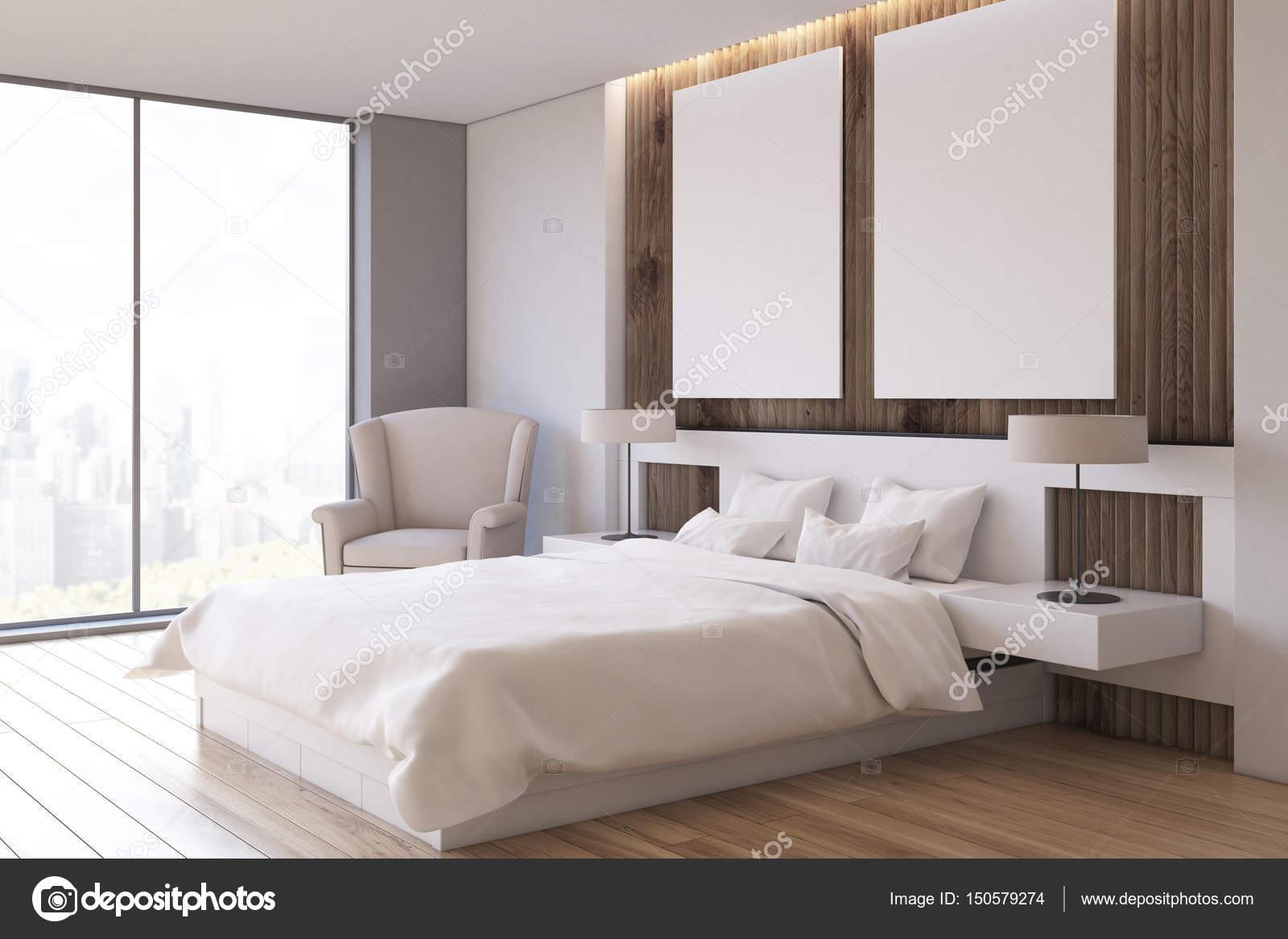 Zwei Poster Schlafzimmer Sessel Seite Stockfoto C Denisismagilov