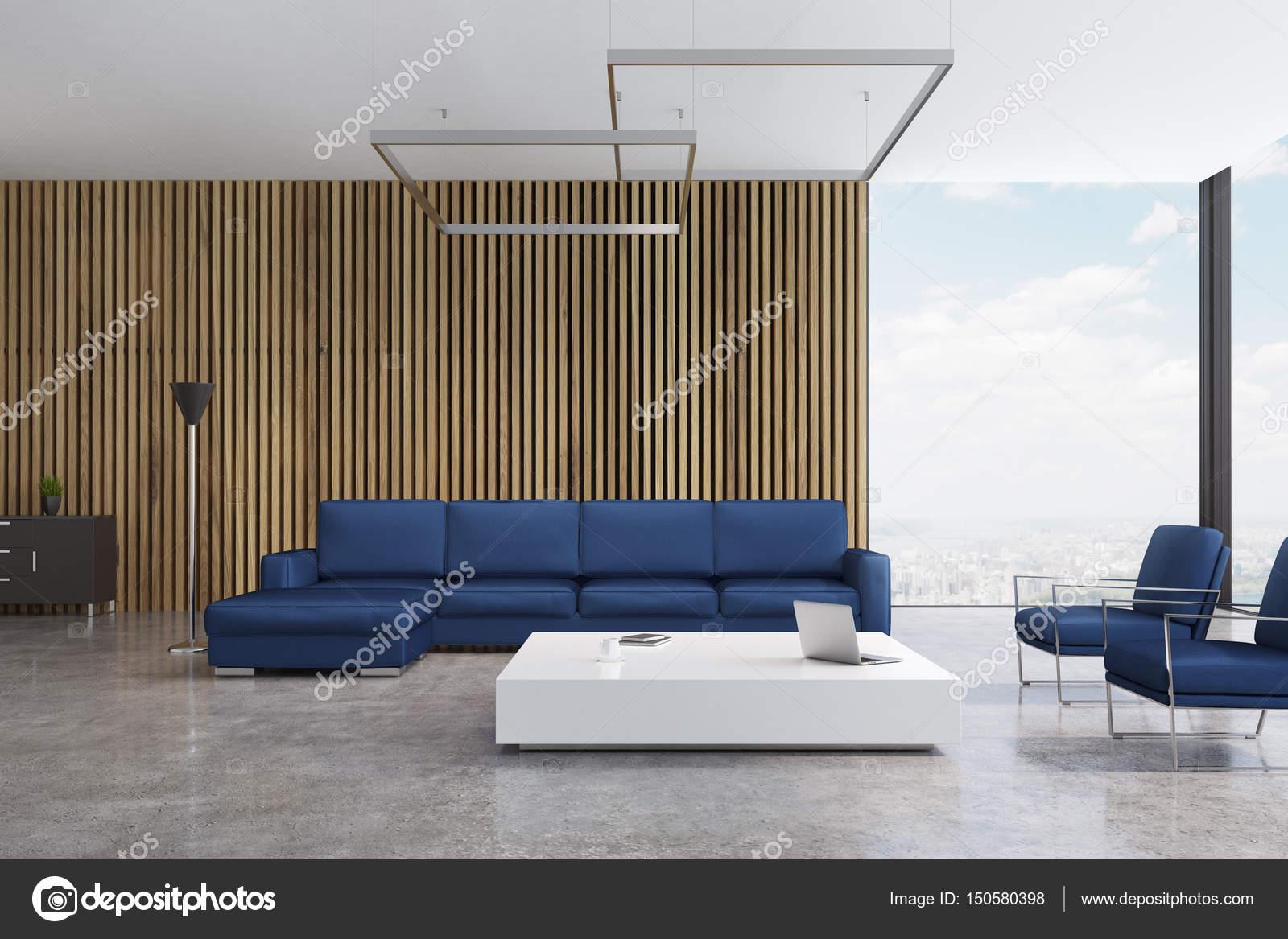 Blaues Sofa Wohnzimmer Stockfoto C Denisismagilov 150580398