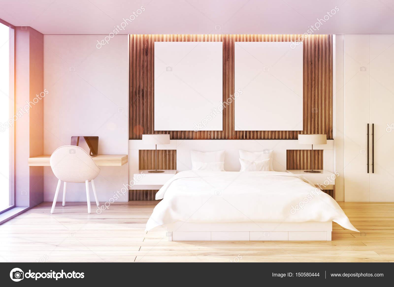 Camera da letto due poster, studio, tonica — Foto Stock ...