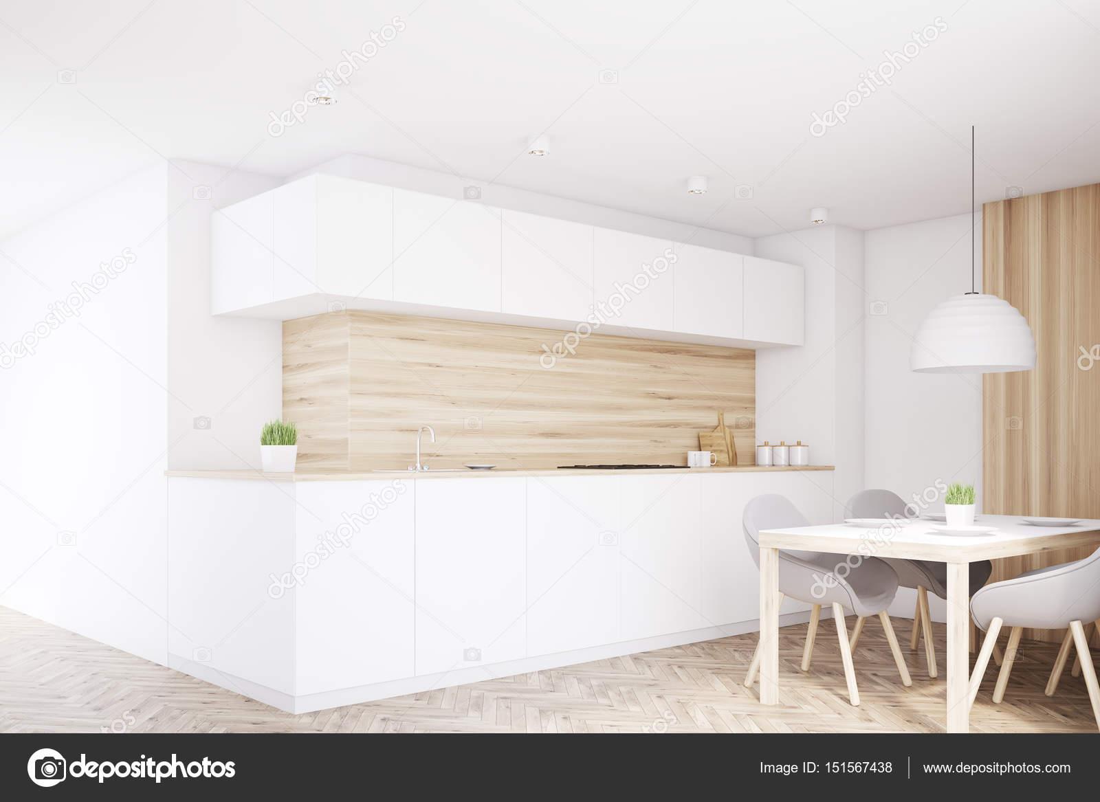 Bancone della cucina, tavolo, angolo di luce — Foto Stock ...
